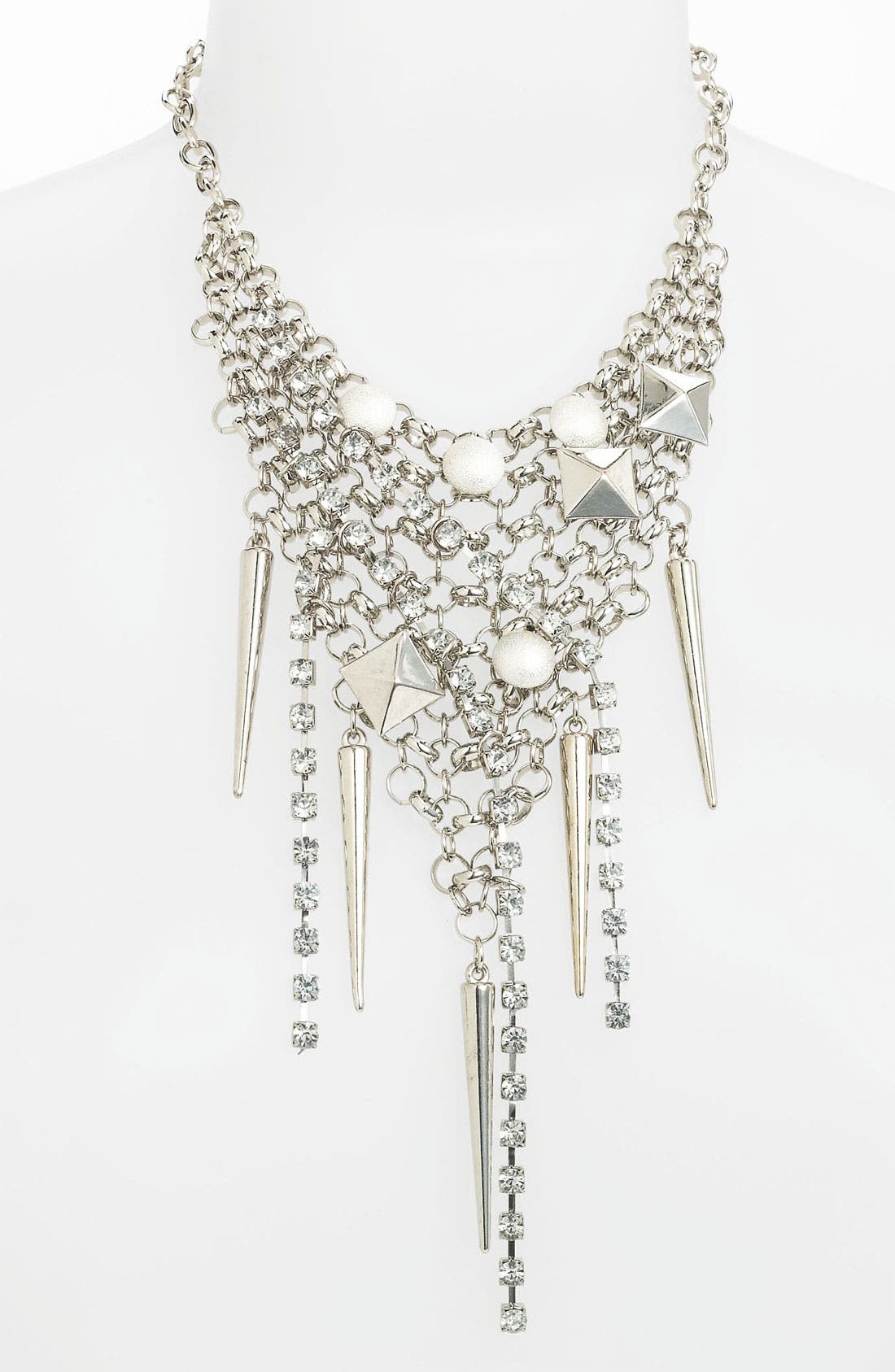 Alternate Image 1 Selected - Cara Grommet & Crystal Bib Necklace
