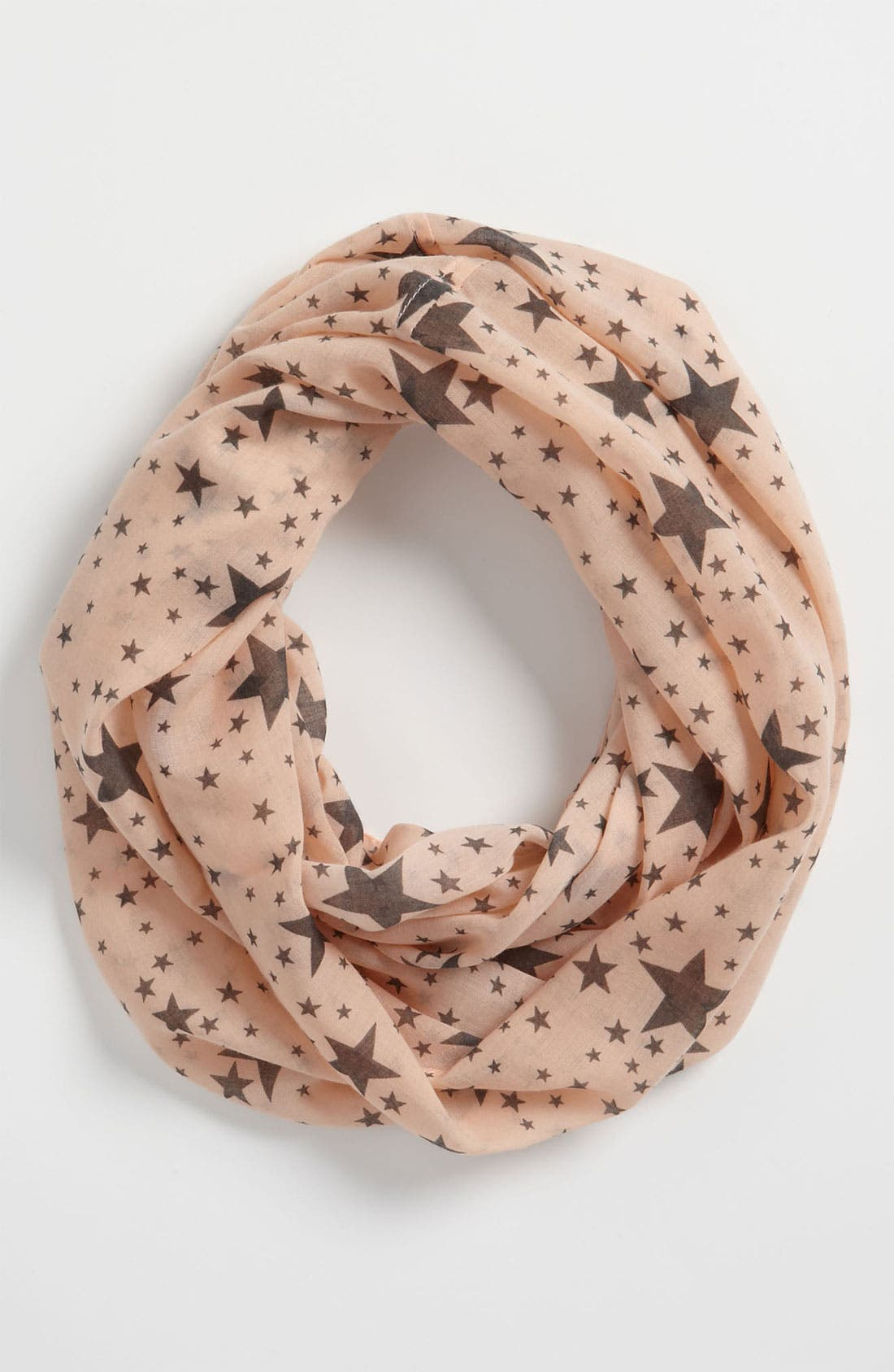Main Image - Ruby & Bloom Print Infinity Scarf (Big Girls)