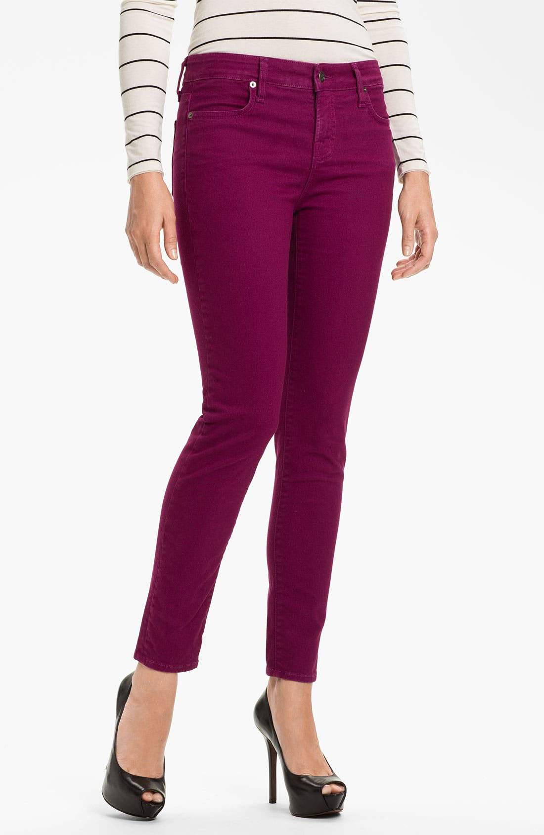 Main Image - Blue Essence Skinny Twill Ankle Jeans (Nordstrom Exclusive)