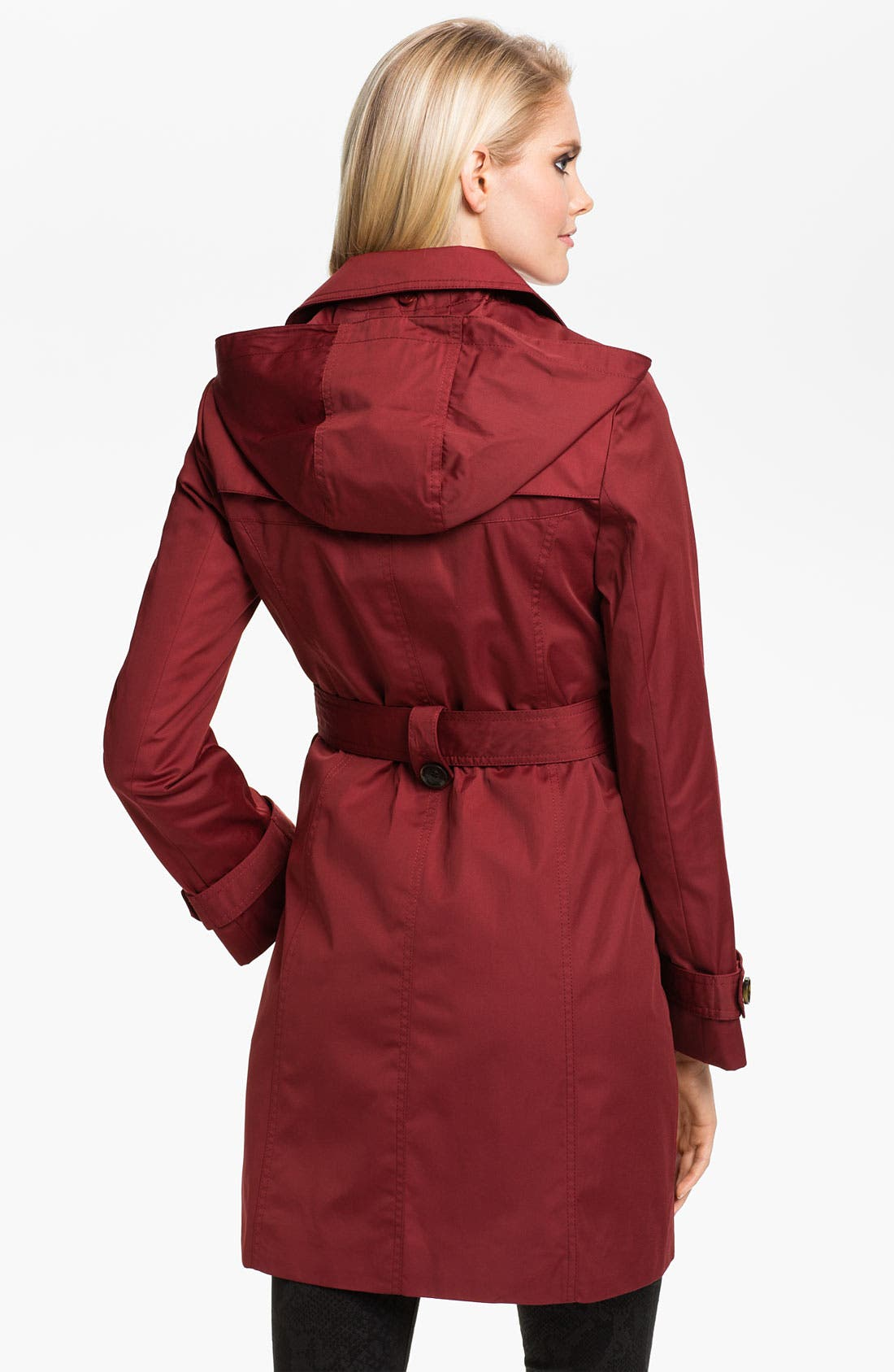 Alternate Image 2  - Ellen Tracy Water Repellent Trench Coat (Online Only)