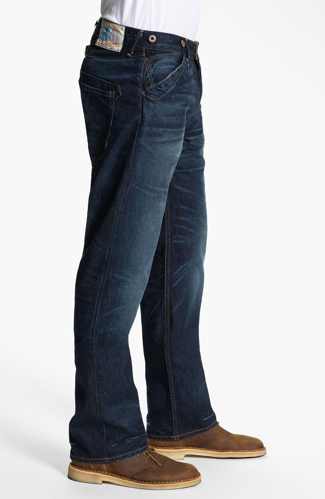 Alternate Image 3  - Rising Sun 'Blacksmith' Relaxed Straight Leg Jeans (Indigo Crossroad)