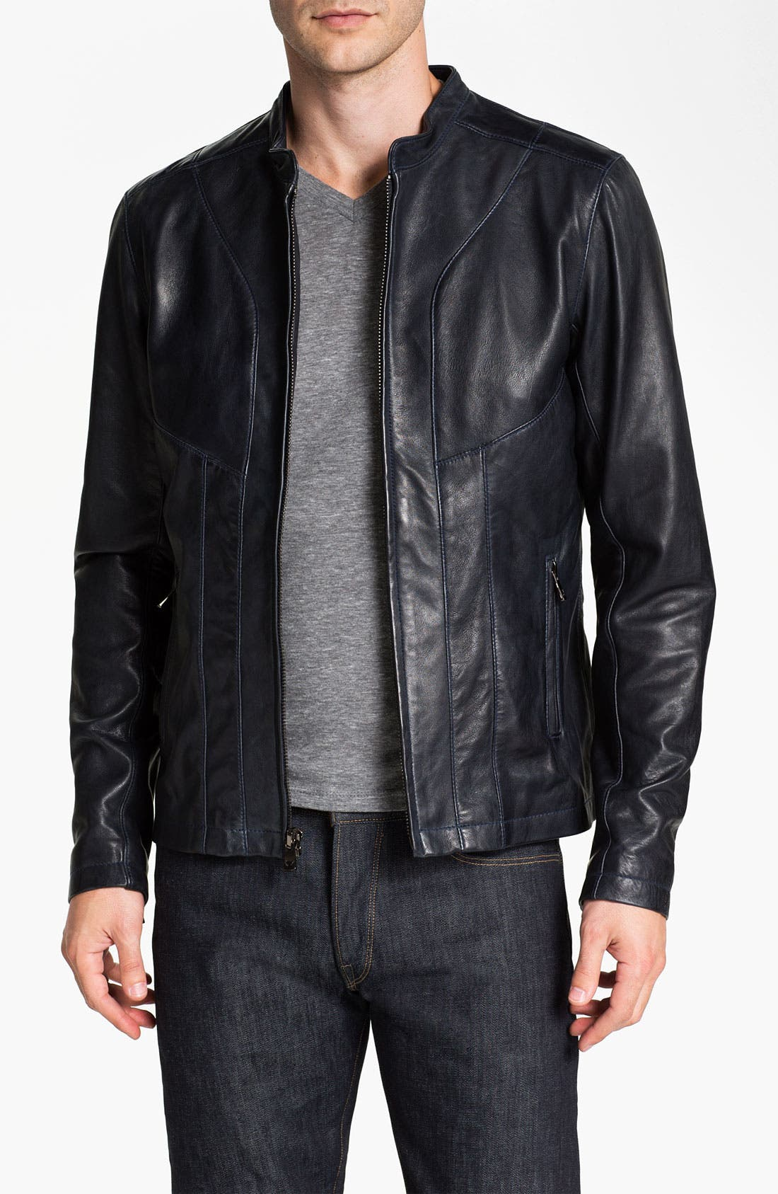 Alternate Image 1 Selected - Bod & Christensen Leather Moto Jacket