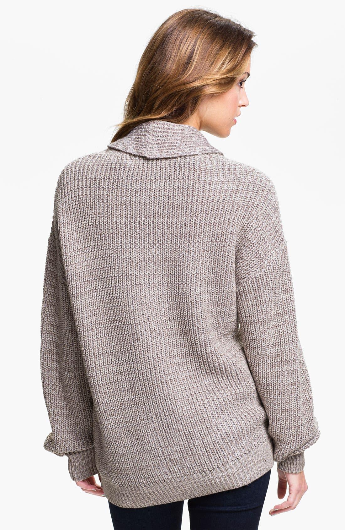 Alternate Image 2  - Cotton Emporium Oversized Cardigan (Juniors)