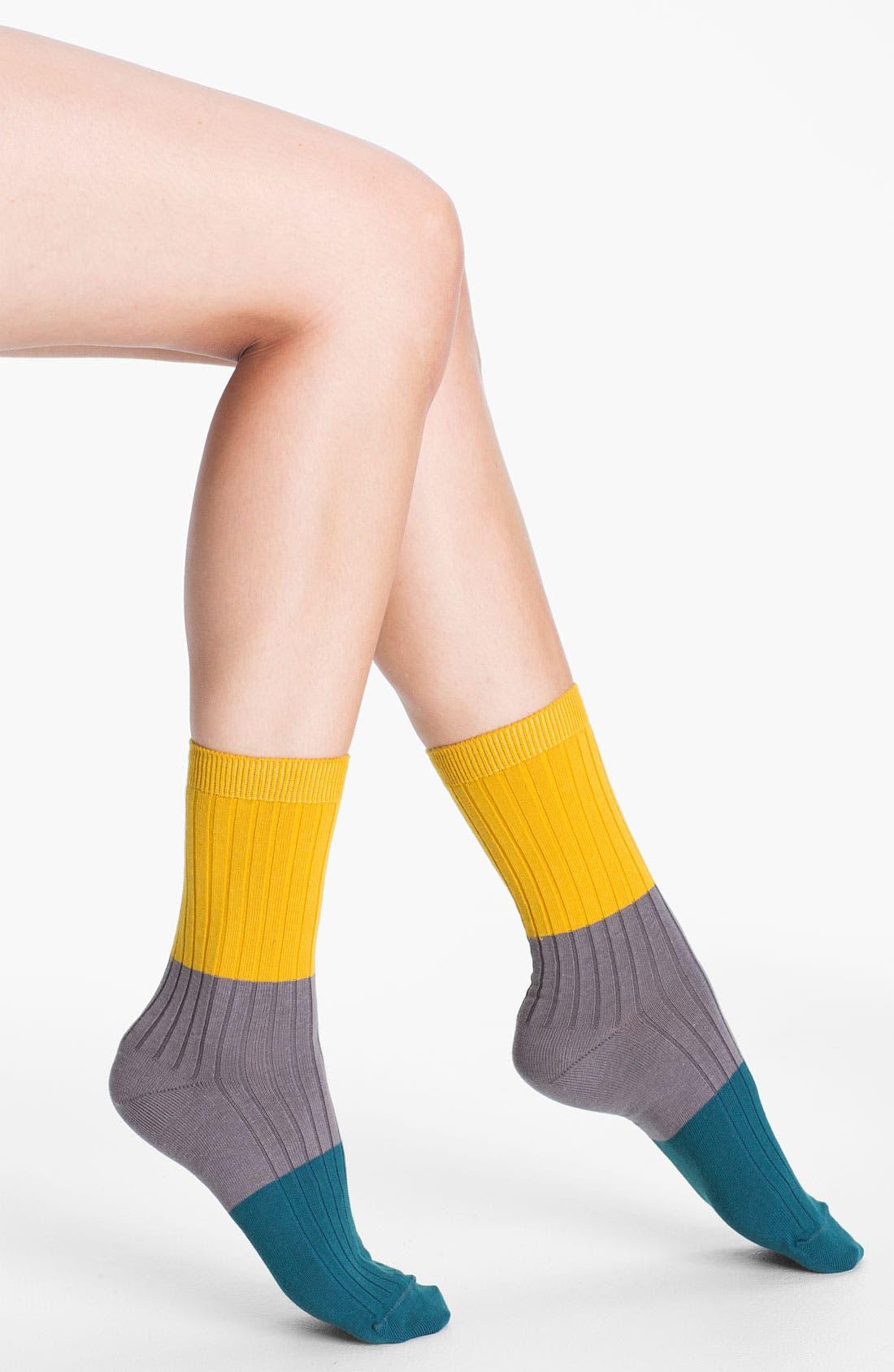 Alternate Image 1 Selected - Nordstrom Colorblock Crew Socks