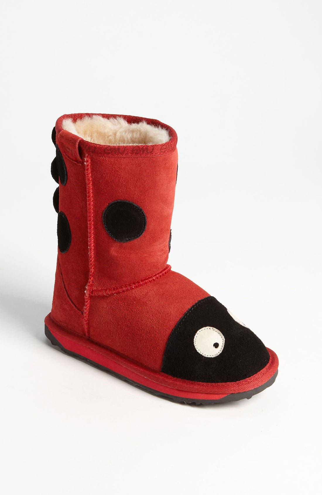 Alternate Image 1 Selected - EMU Australia 'Little Creatures - Ladybug' Boot (Toddler, Little Kid & Big Kid)