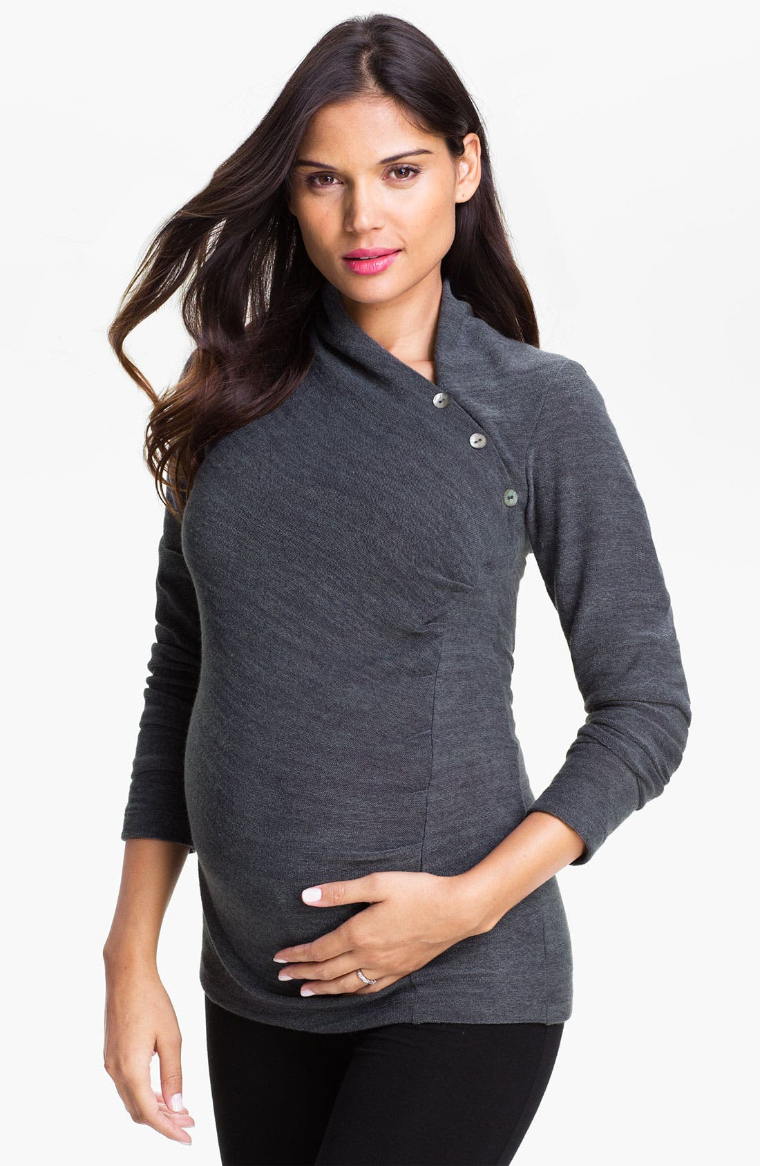 Main Image - Japanese Weekend Asymmetrical Maternity Top