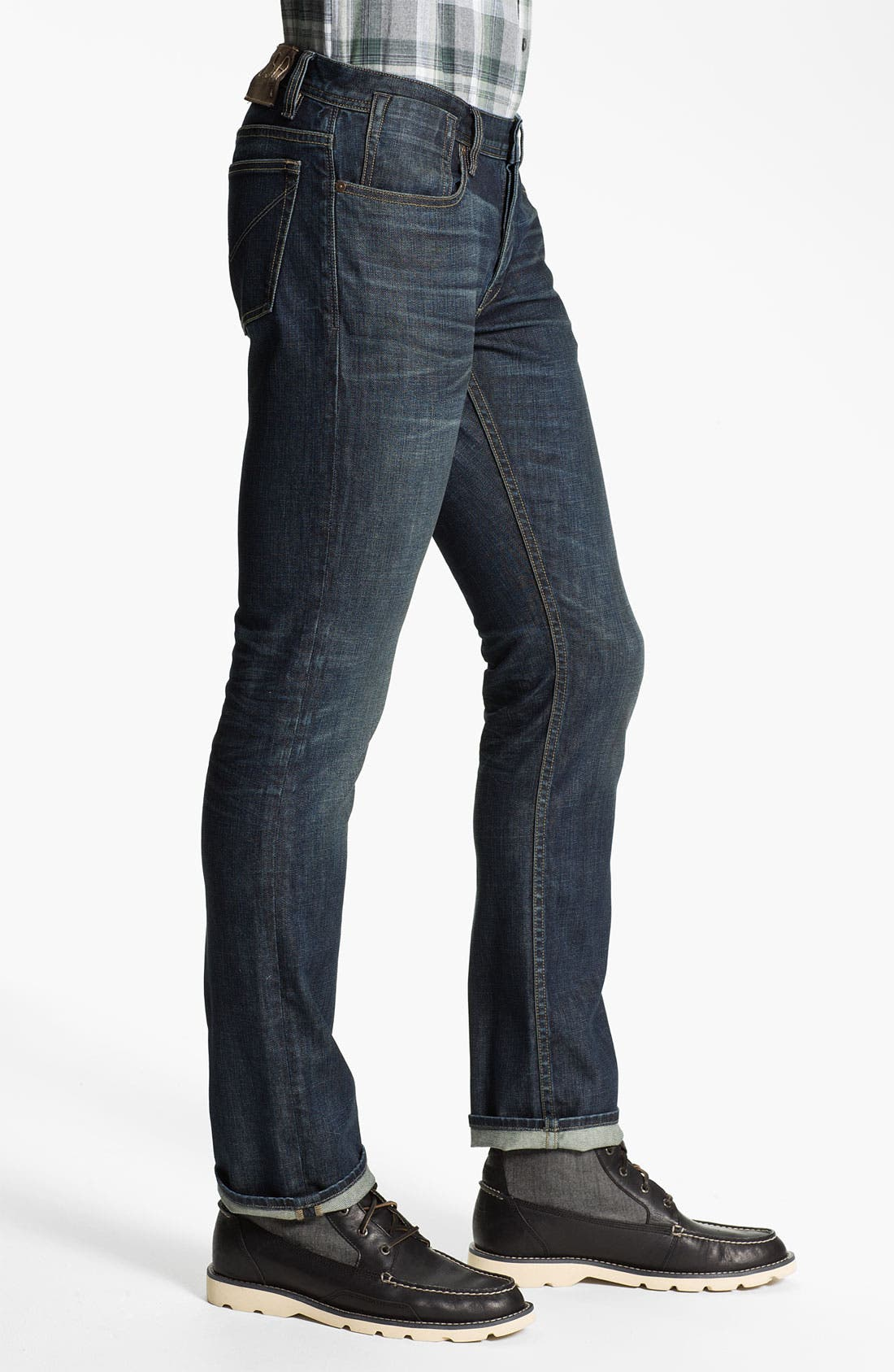 Alternate Image 3  - John Varvatos Star USA 'Bowery' Slim Straight Leg Jeans (Indigo)