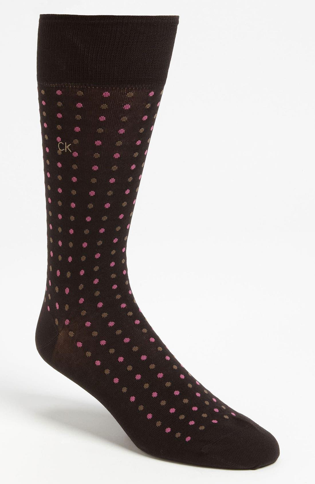 Alternate Image 1 Selected - Calvin Klein Dot Socks