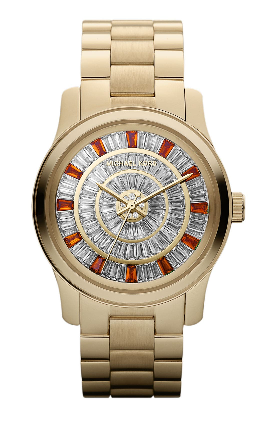 Main Image - Michael Kors 'Runway' Crystal Dial Bracelet Watch