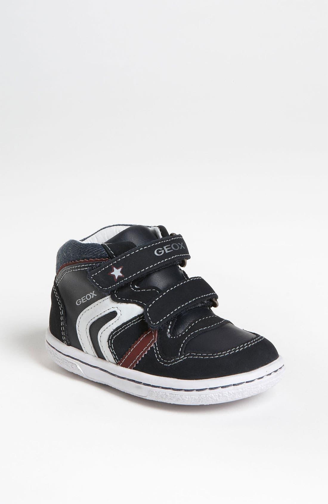 Alternate Image 1 Selected - Geox 'Flick' Sneaker (Baby, Walker & Toddler)