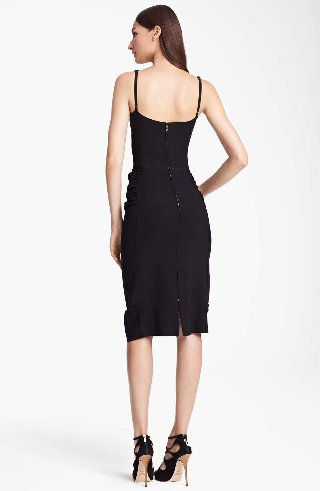 Alternate Image 2  - Nina Ricci Silk & Wool Crepe Dress