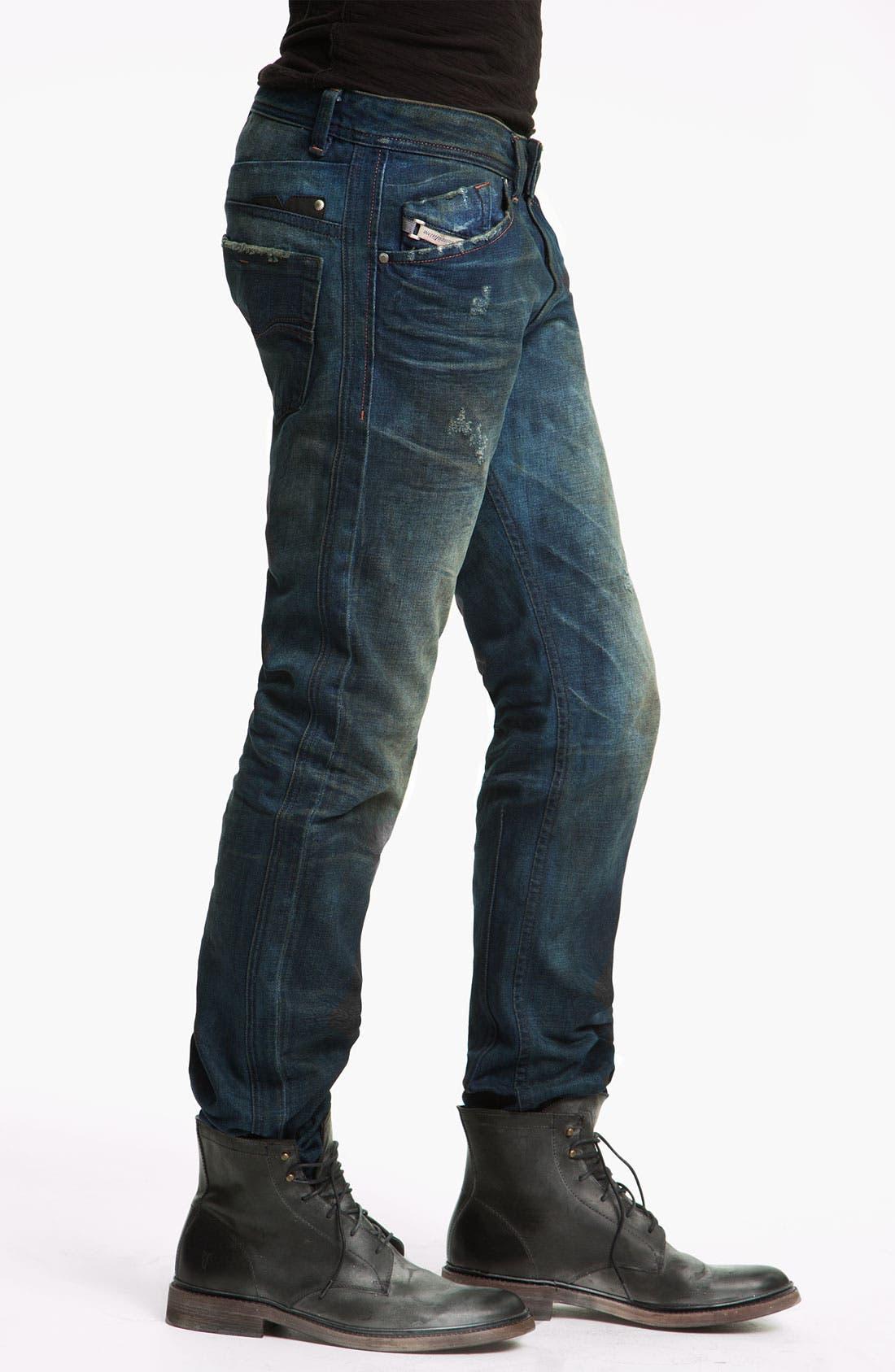 Alternate Image 3  - DIESEL® 'Darron' Slim Tapered Leg Jeans (0075L)