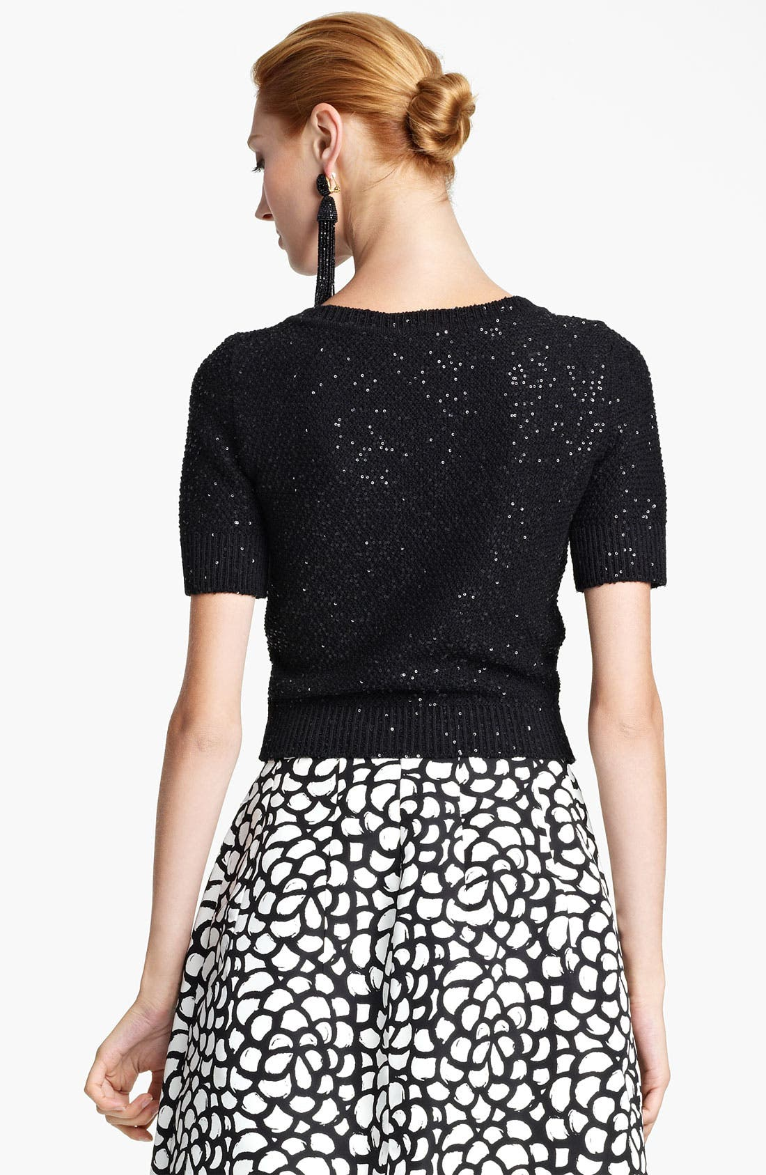 Alternate Image 2  - Oscar de la Renta Jewel Neck Sequin Pullover