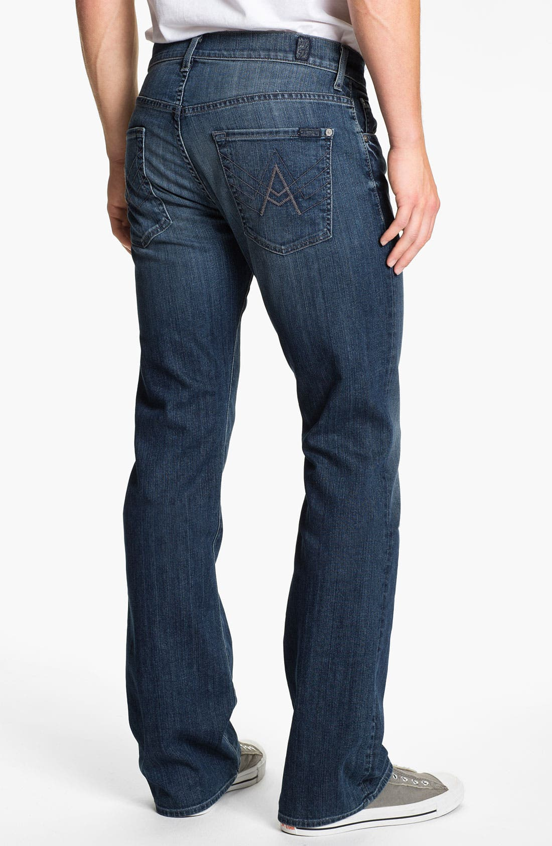 Alternate Image 1 Selected - 7 For All Mankind® 'Brett' Bootcut Jeans (Nakkita Grey)