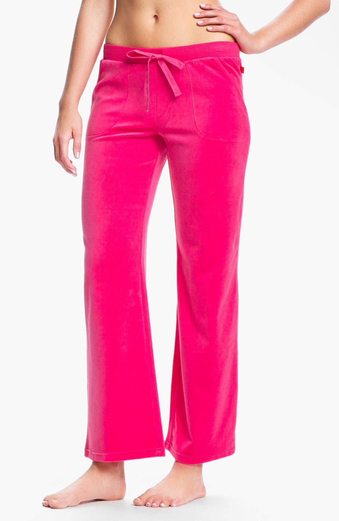 Alternate Image 1 Selected - Josie 'Sacha' Velour Pants