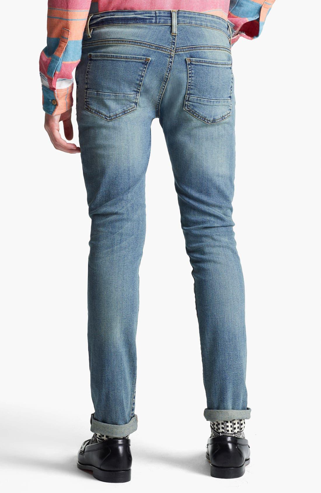Alternate Image 2  - Topman 'Spray On' Skinny Jeans (Atlanta)