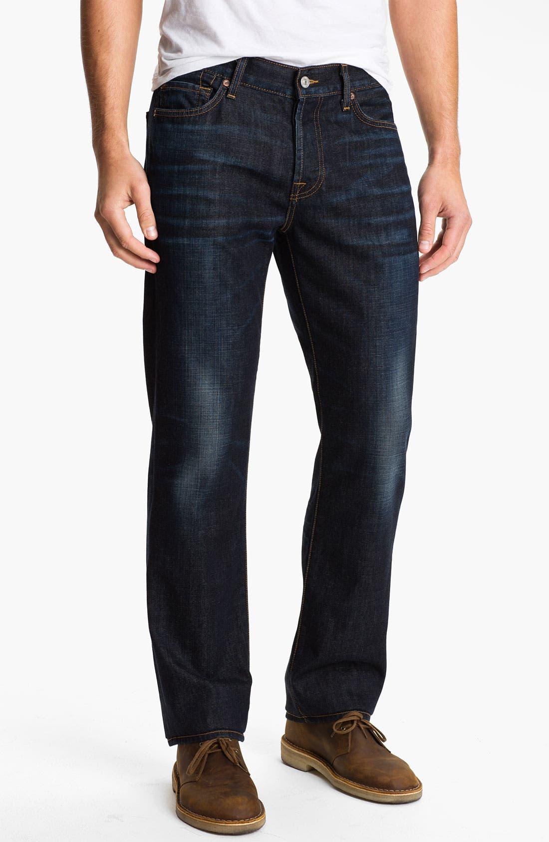 Alternate Image 2  - 7 For All Mankind® 'Standard' Straight Leg Jeans (Porterville)