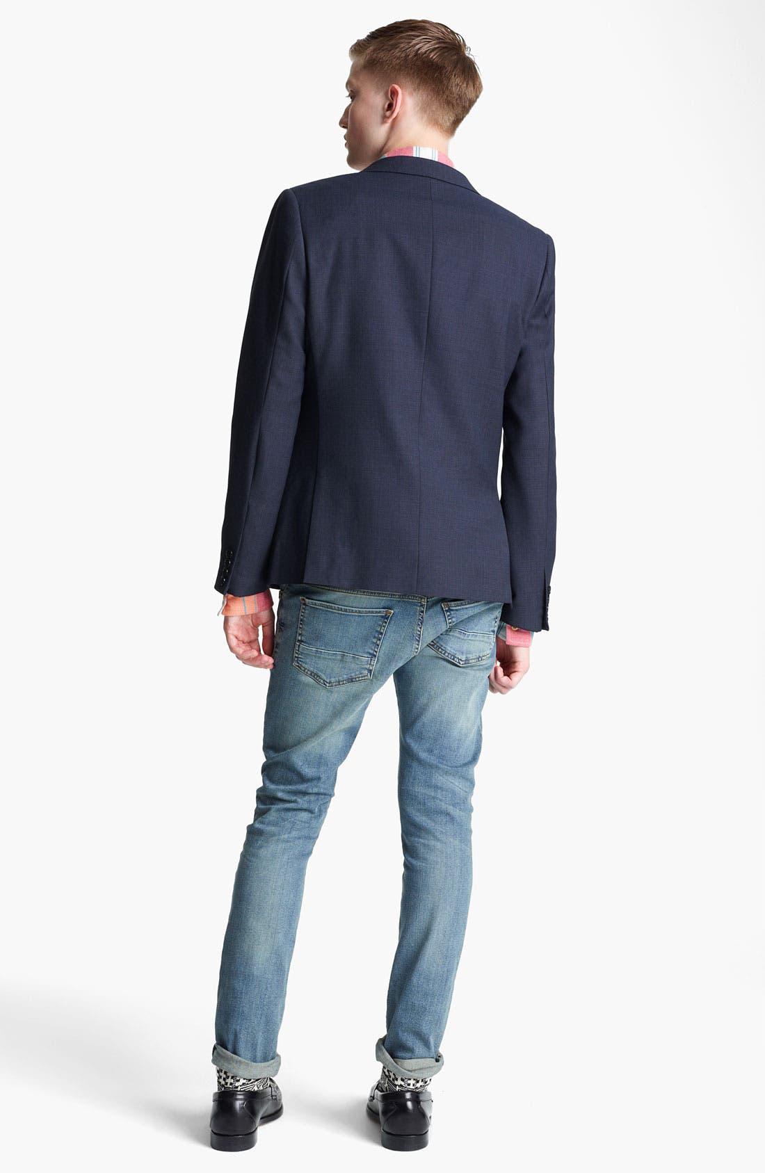 Alternate Image 4  - Topman 'Chester' Skinny Blazer