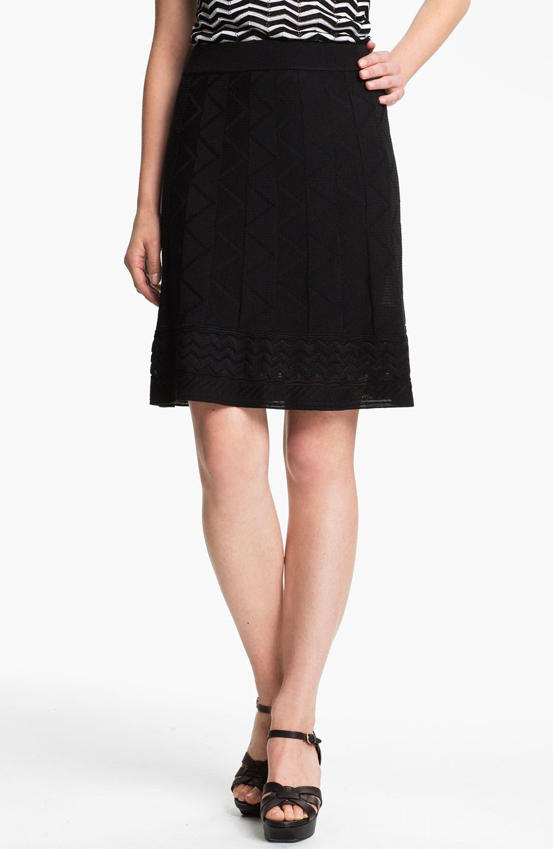 Alternate Image 1 Selected - M Missoni Tonal Zigzag Skirt