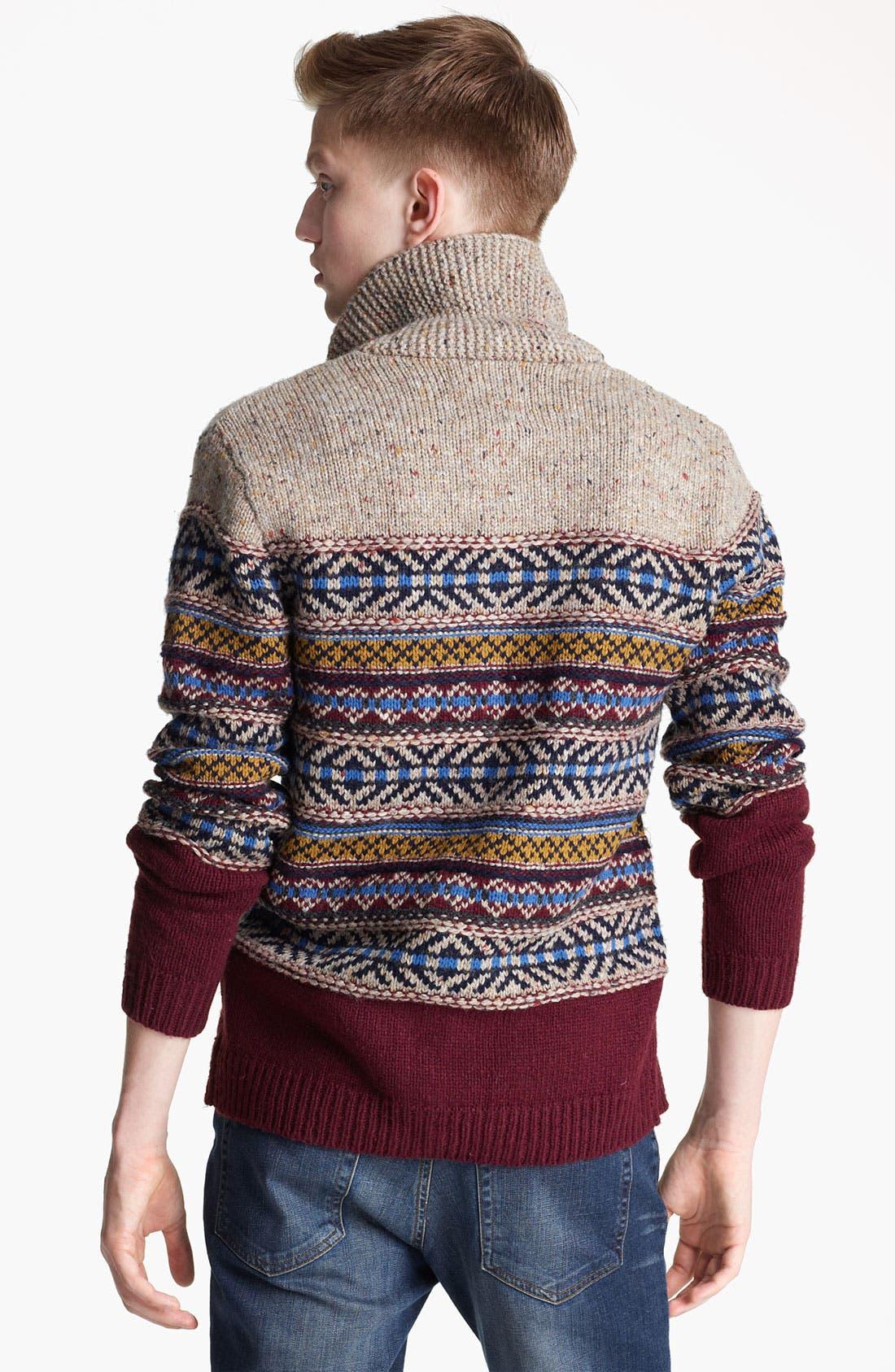 Alternate Image 2  - Topman Shawl Collar Cardigan