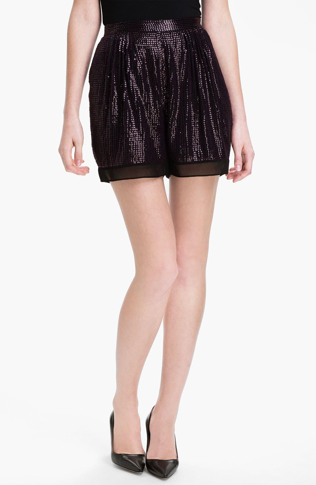 Main Image - Diane von Furstenberg 'Sandra Cuvet' Sequin Shorts