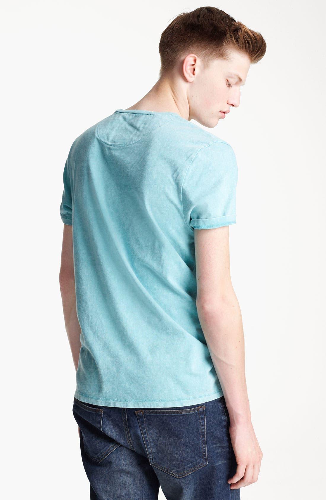 Alternate Image 2  - Topman Washed Cotton Pocket T-Shirt