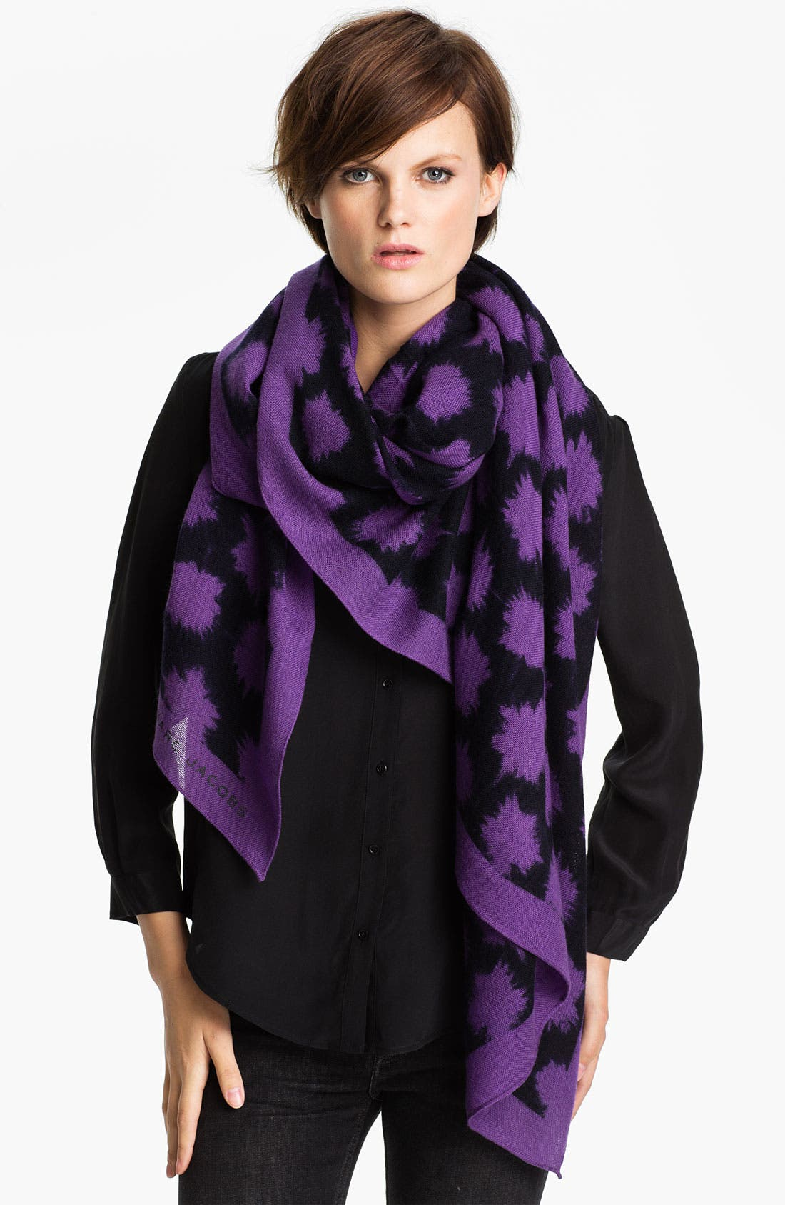 Main Image - MARC BY MARC JACOBS 'Sparks Print' Wool Scarf