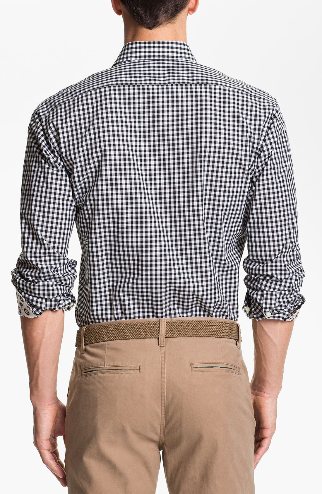 Alternate Image 2  - Thomas Dean 'University of Georgia' Gingham Sport Shirt