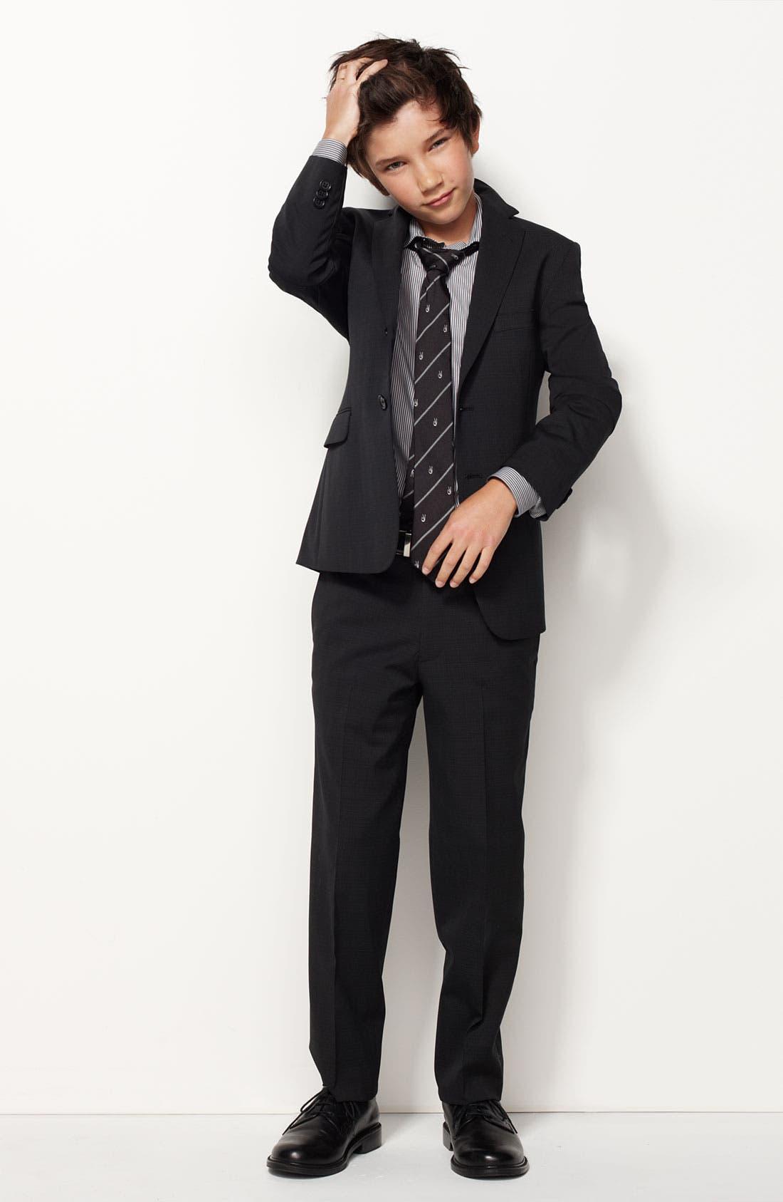 Alternate Image 2  - John Varvatos Star USA Stripe Dress Shirt (Big Boys)