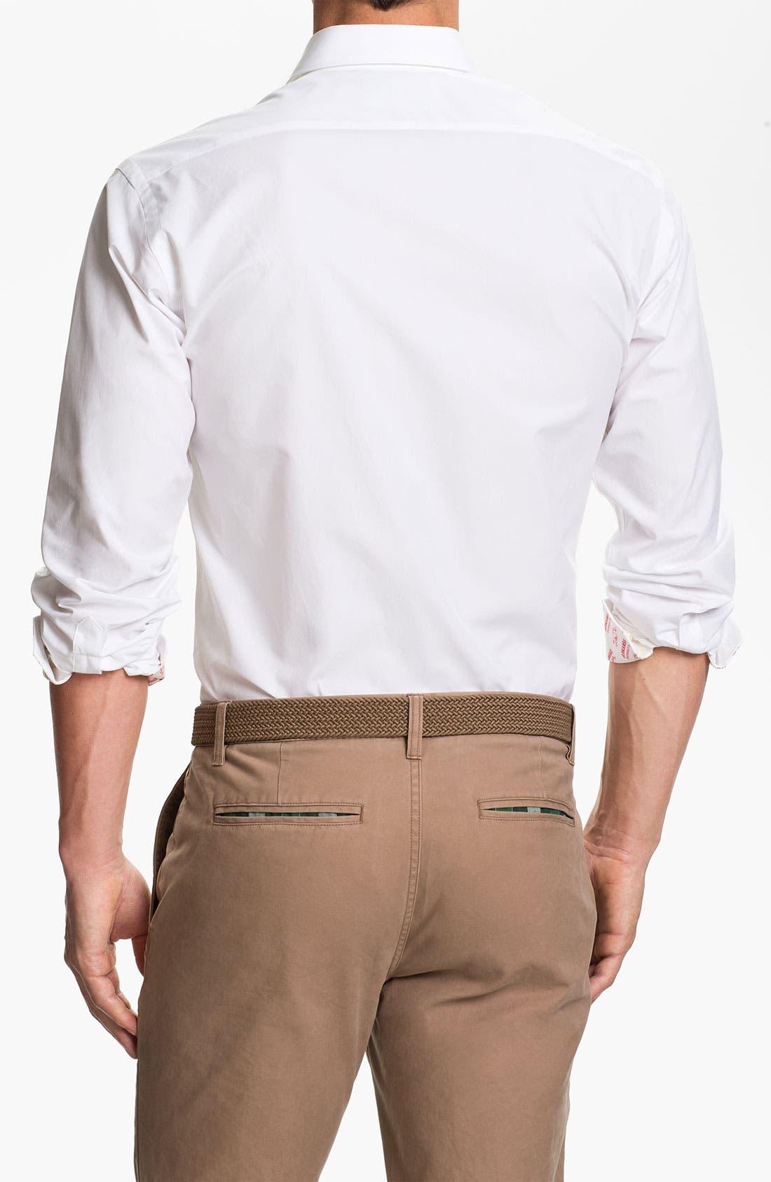 Alternate Image 2  - Thomas Dean 'University of Arkansas' Regular Fit Sport Shirt