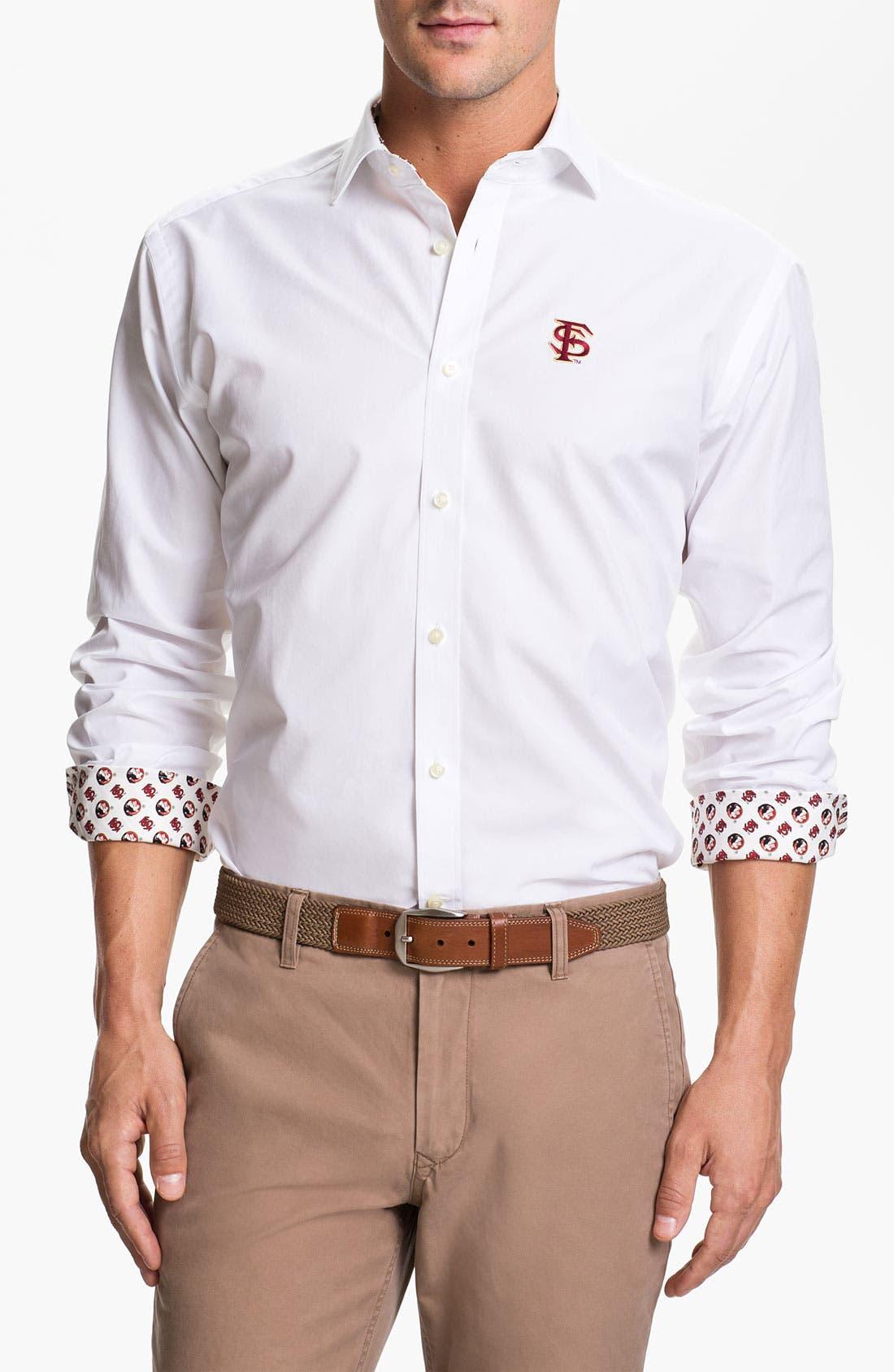 Main Image - Thomas Dean 'Florida State' Sport Shirt