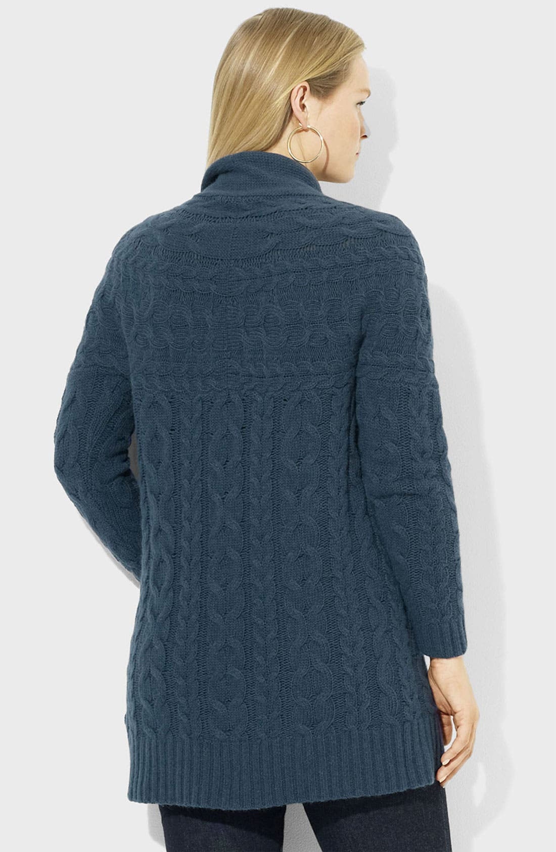 Alternate Image 2  - Lauren Ralph Lauren Open Cable Cardigan (Plus)