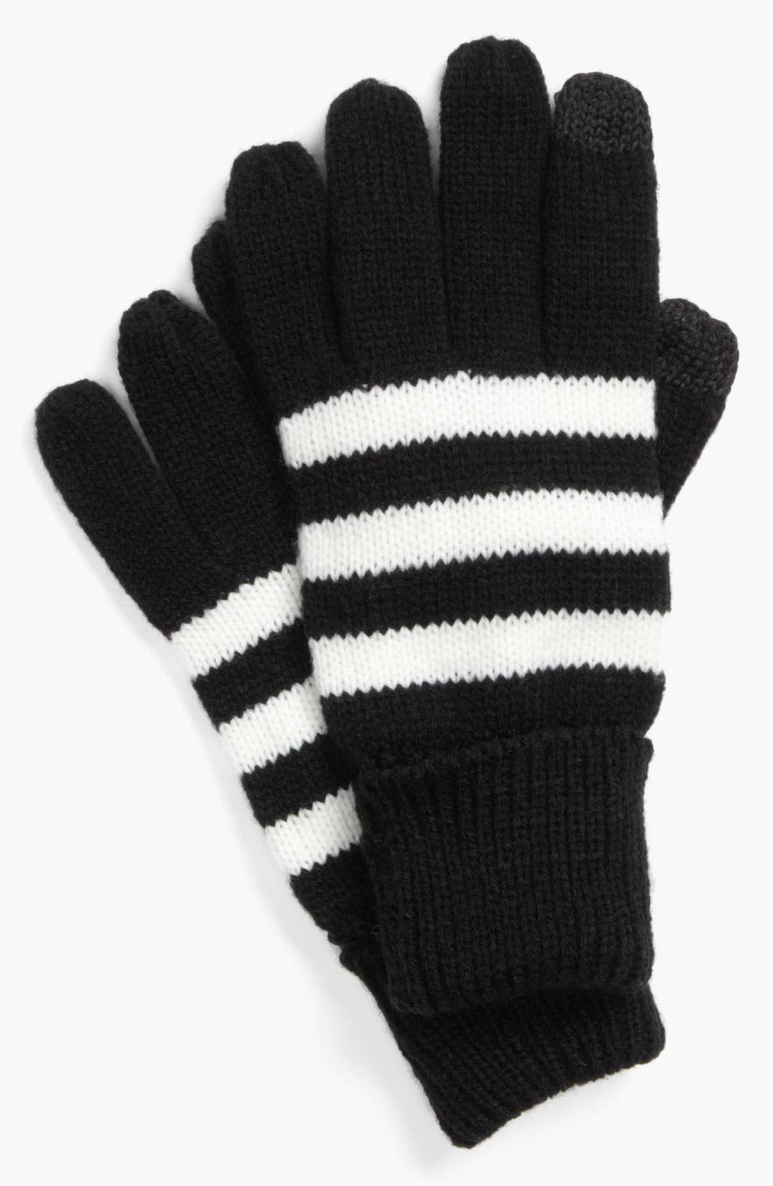 Alternate Image 1 Selected - Big Buddha Stripe Tech Gloves