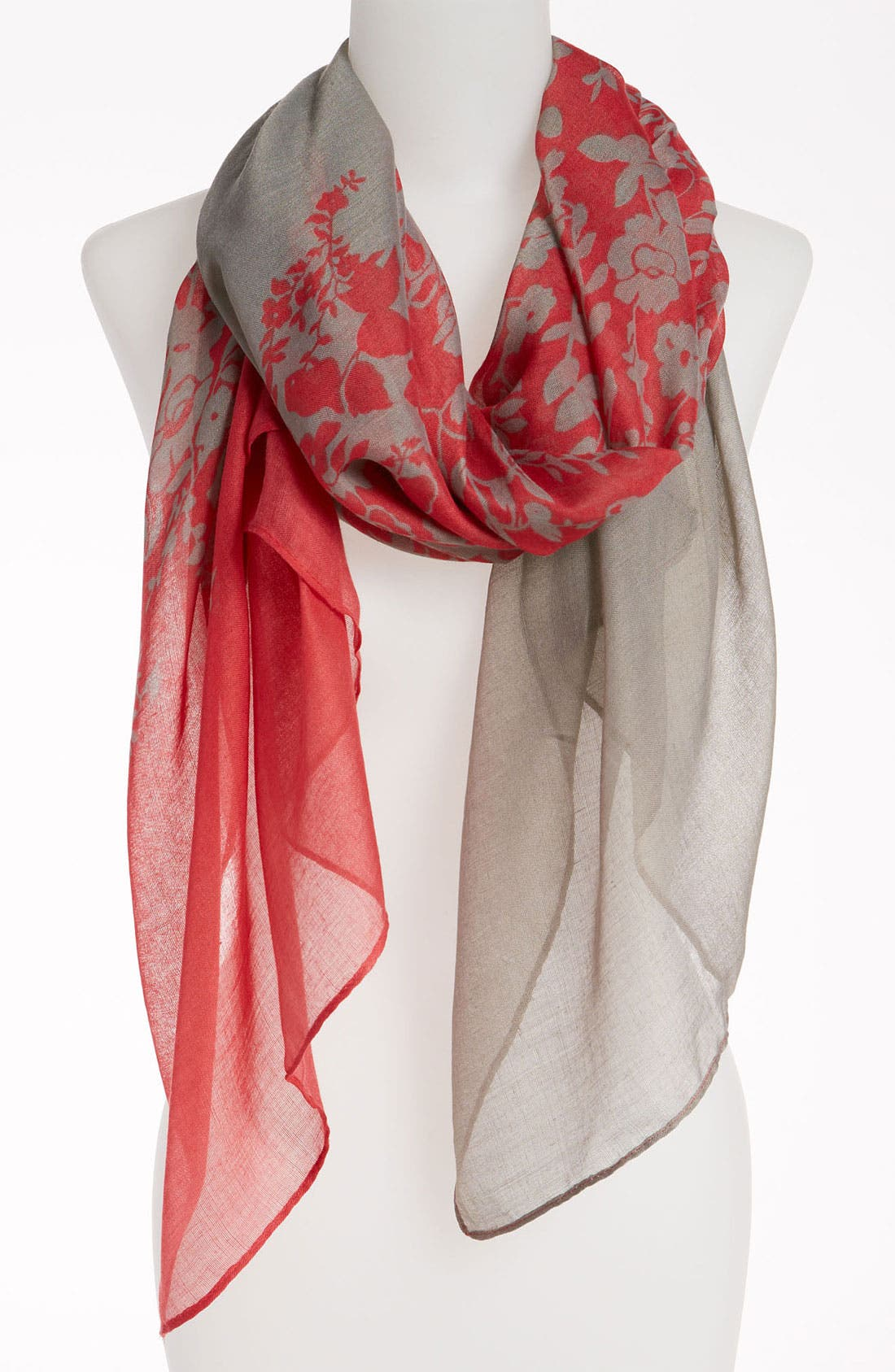 Alternate Image 1 Selected - David & Young Sheer Floral Scarf