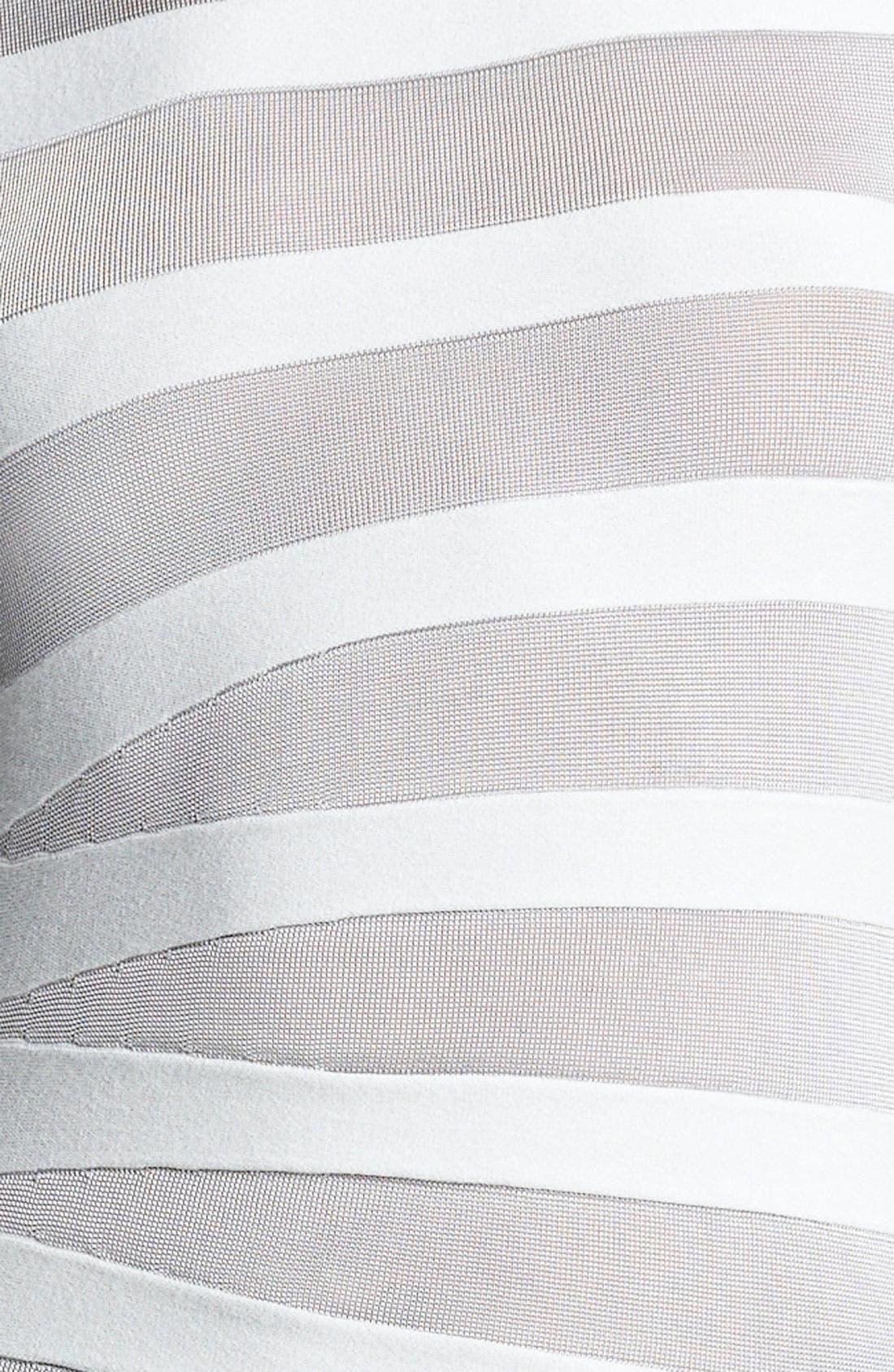 Alternate Image 3  - Armani Collezioni Asymmetrical Stripe Knit Top