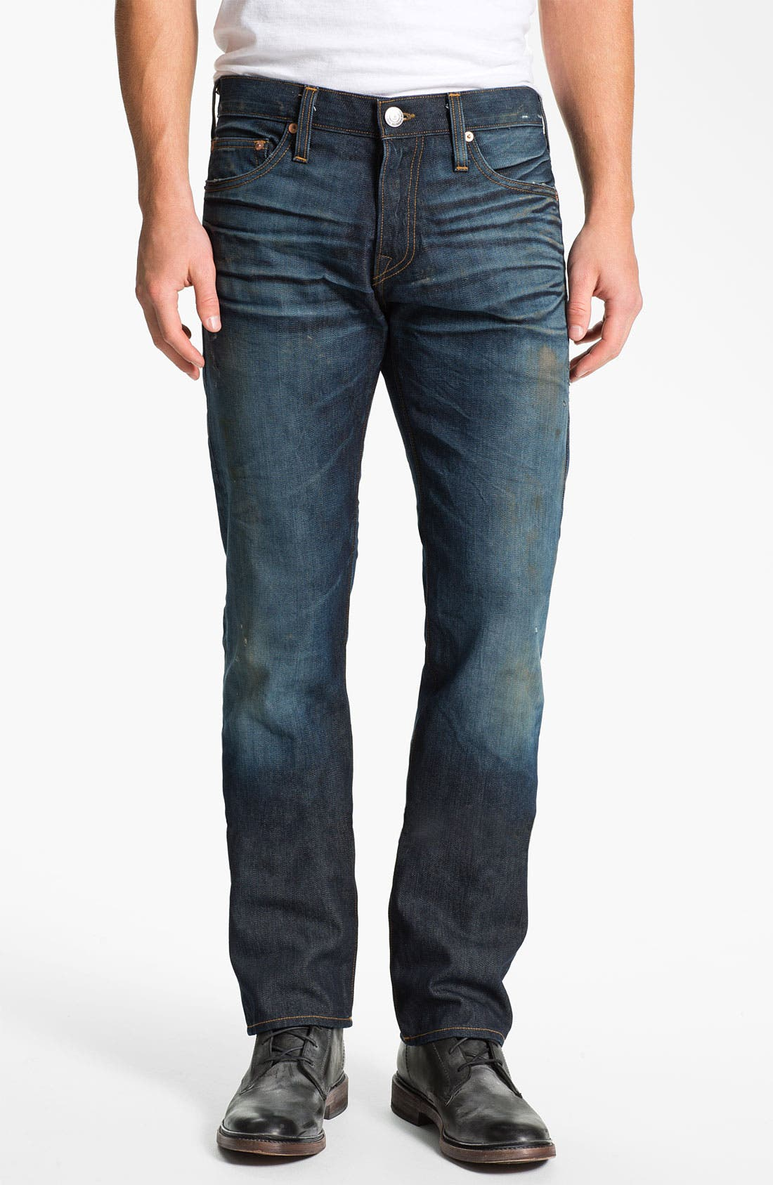 Alternate Image 2  - True Religion Brand Jeans 'Geno 1971' Slim Straight Leg Jeans (Hideout)