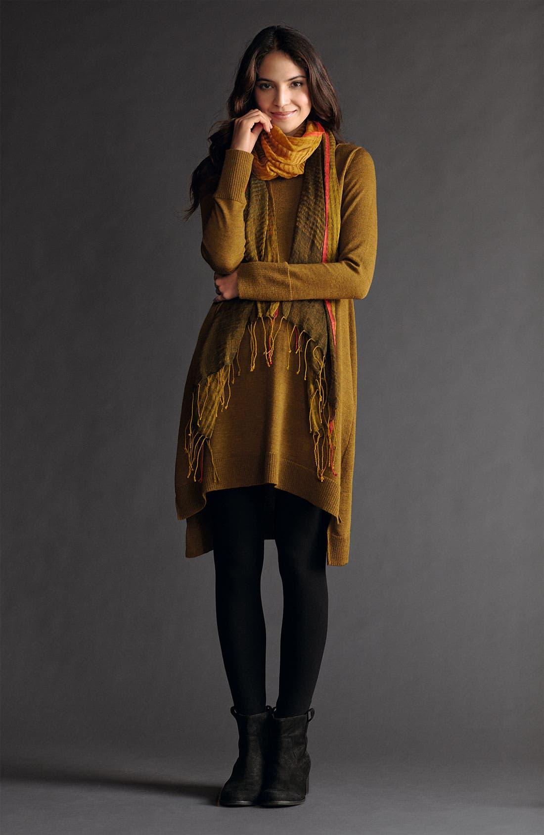 Alternate Image 1 Selected - Eileen Fisher Tunic Dress, Leggings & Scarf