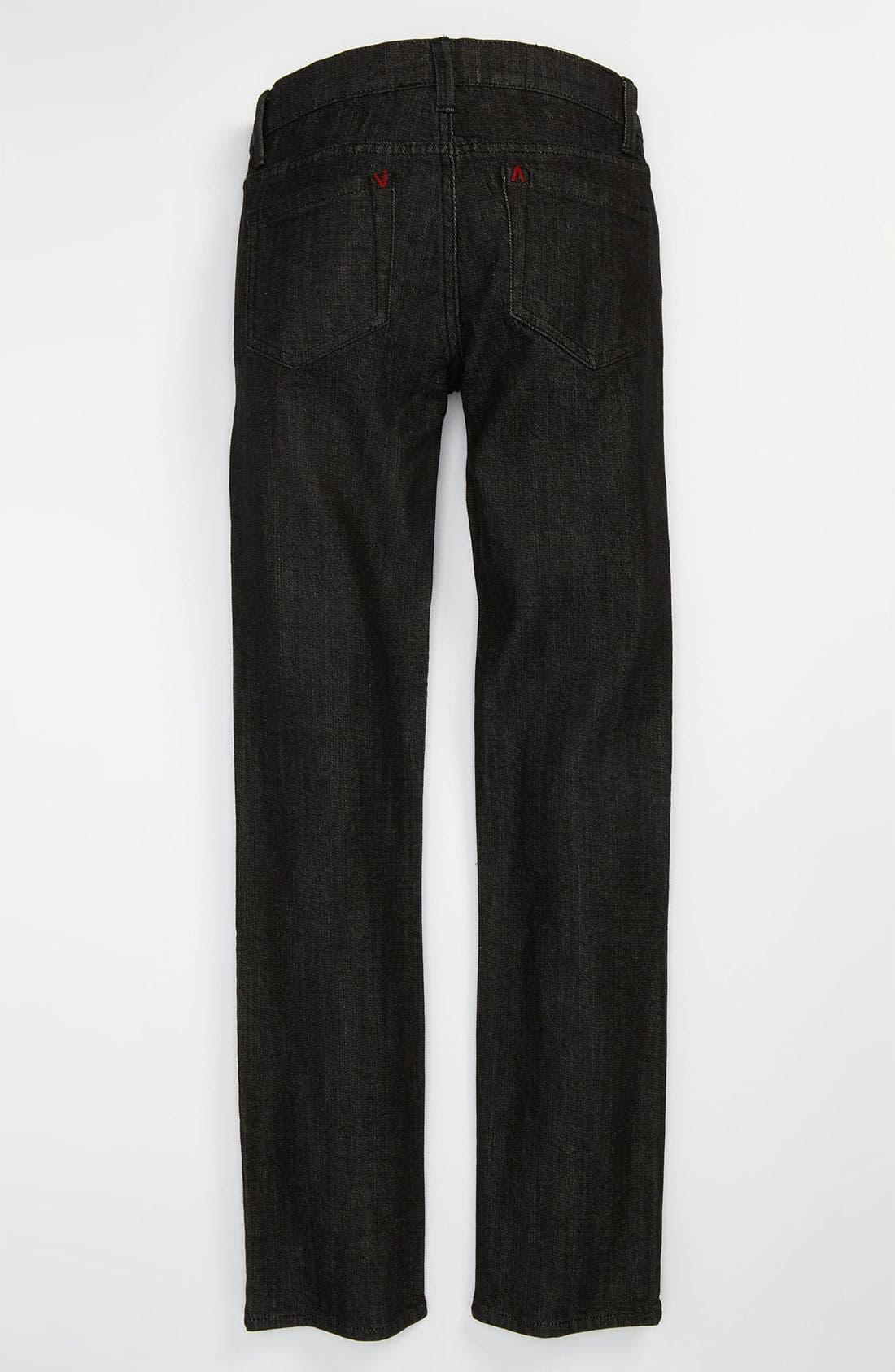 Alternate Image 1 Selected - RVCA 'Regulars' Slim Fit Jeans (Black) (Big Boys)