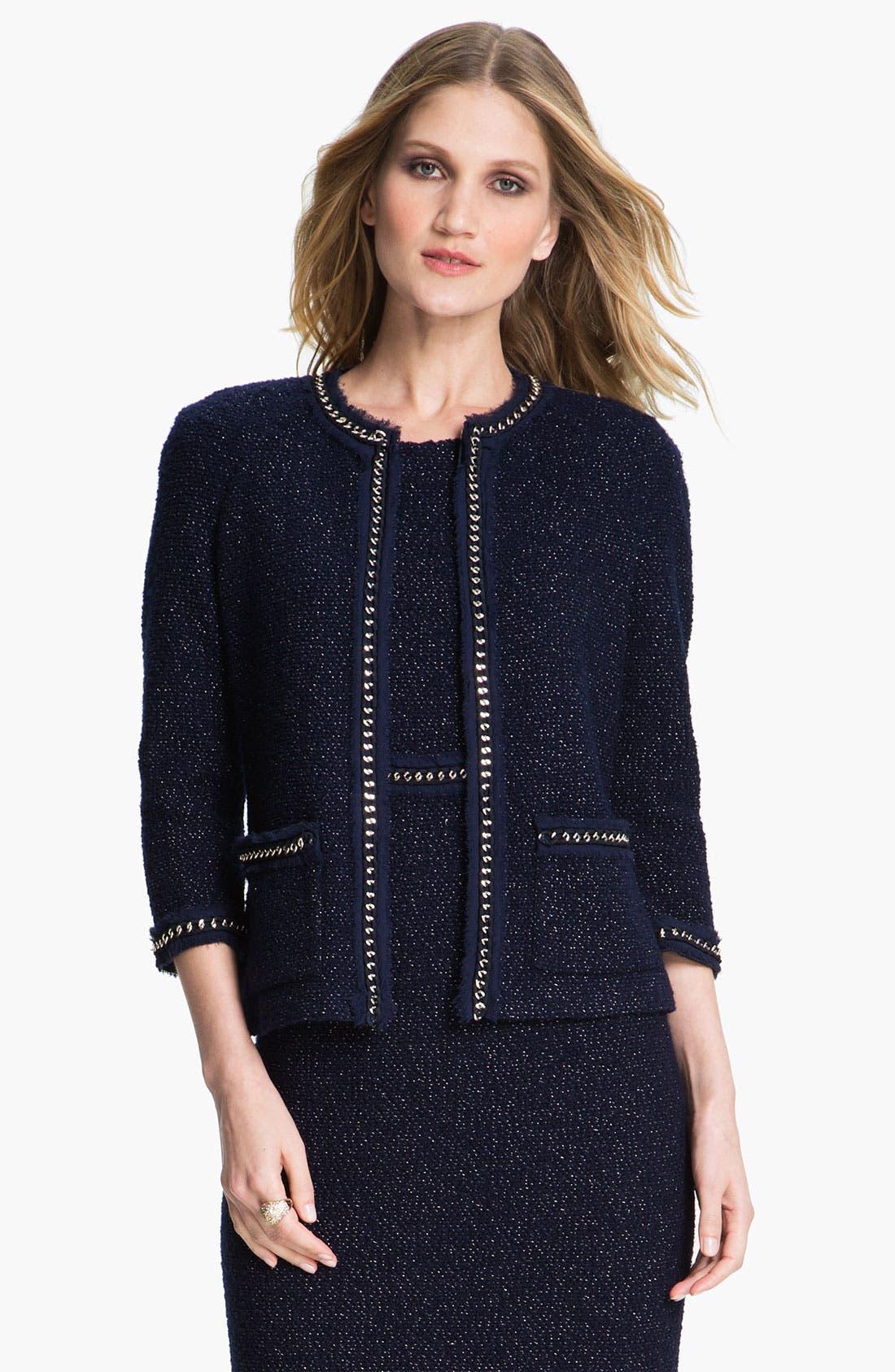 Main Image - St. John Collection Shimmer Bouclette Jacket