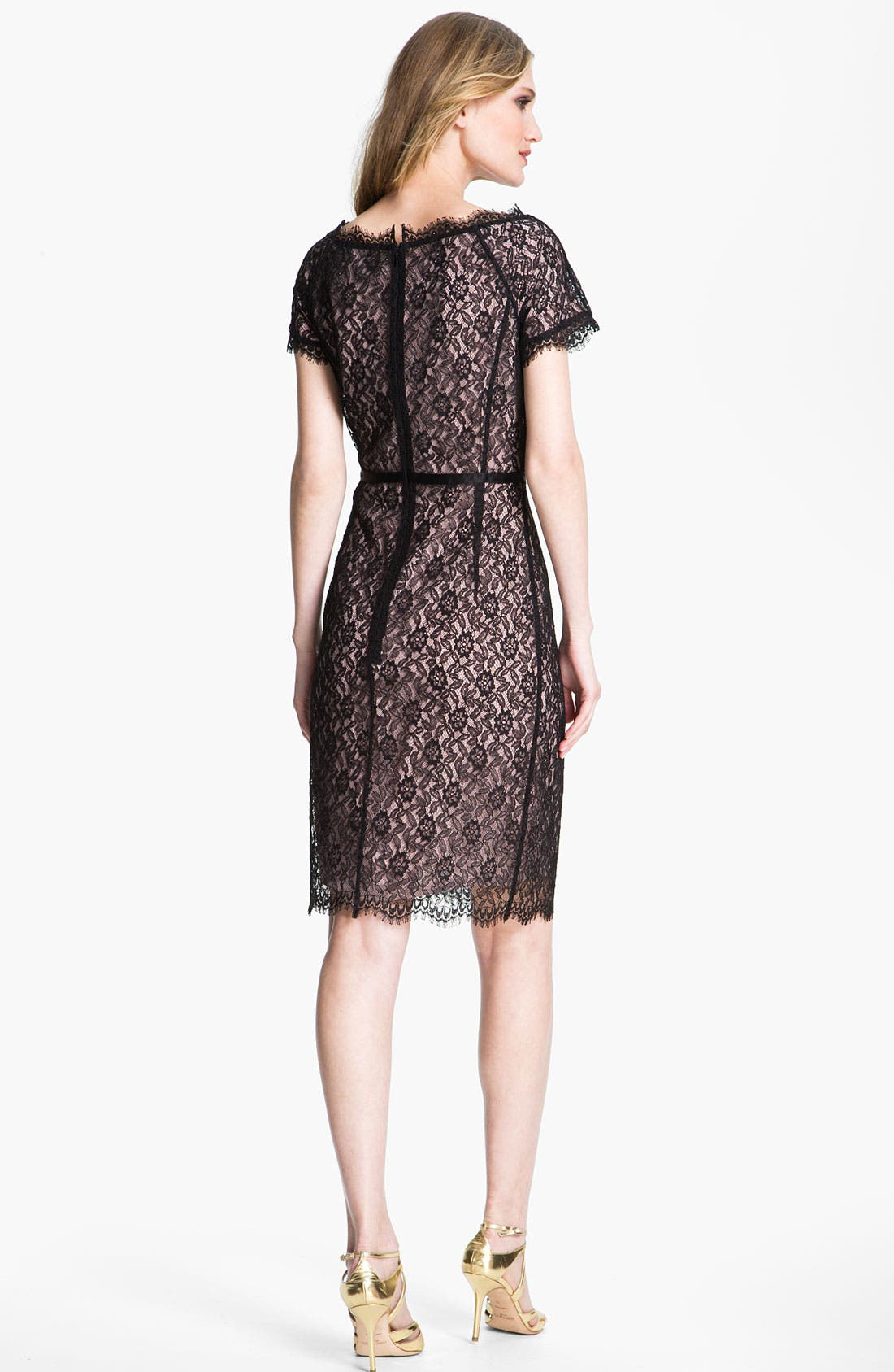Alternate Image 2  - St. John Collection Floral Lace Dress