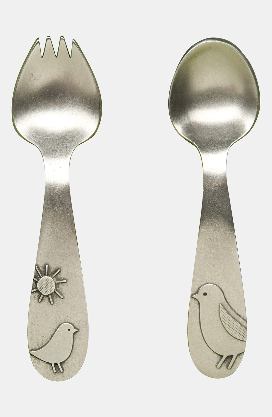 Alternate Image 1 Selected - Beehive Kitchenware 'Momma & Baby Bird' Keepsake Spoon & Fork