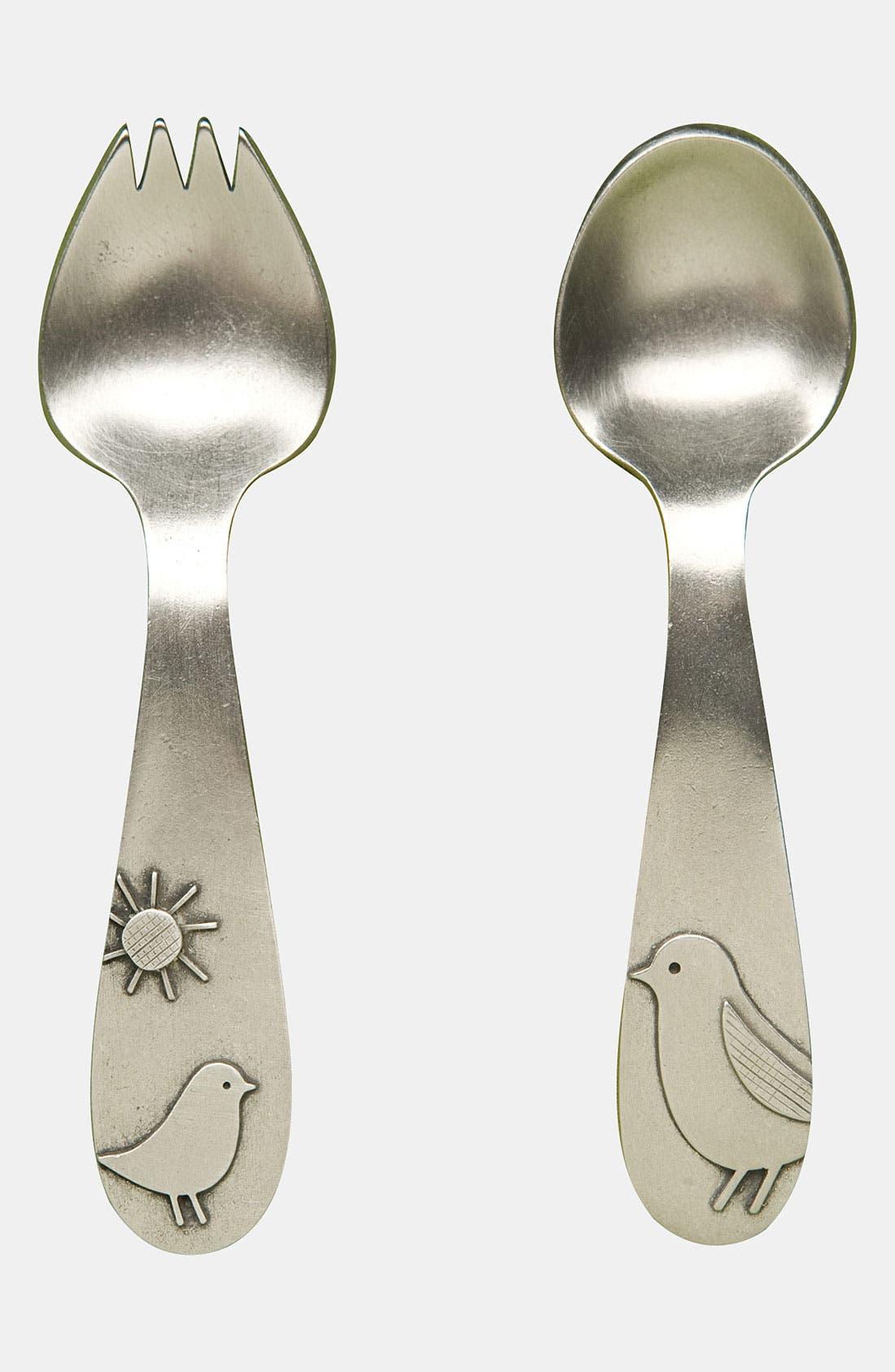 Main Image - Beehive Kitchenware 'Momma & Baby Bird' Keepsake Spoon & Fork