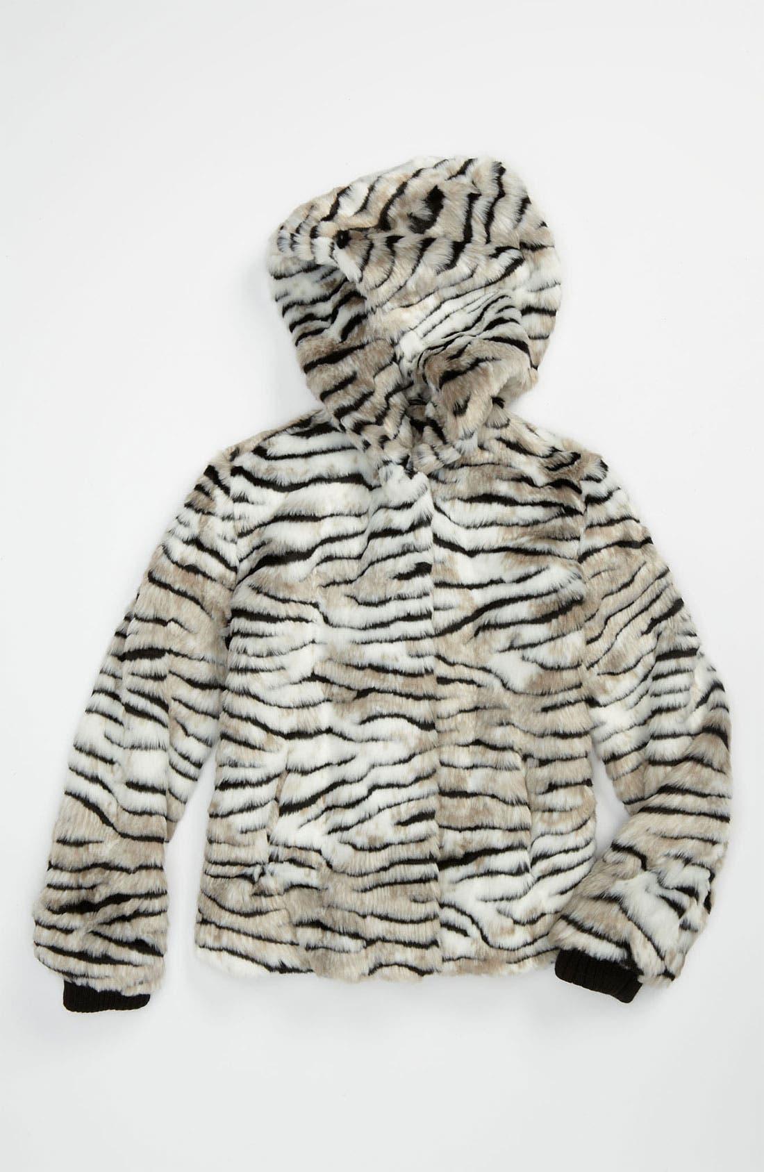 Main Image - Juicy Couture Faux Fur Jacket (Little Girls & Big Girls)