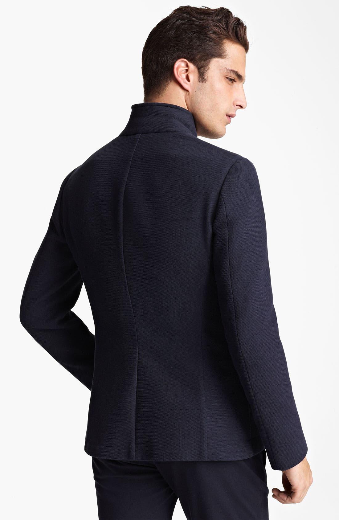 Alternate Image 2  - Armani Collezioni Piqué Jersey Jacket