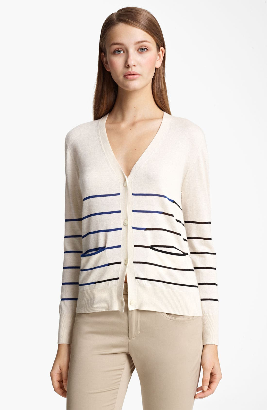 Main Image - Band of Outsiders Stripe Cardigan