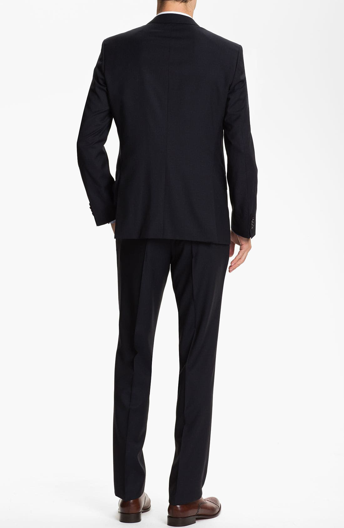 Alternate Image 3  - BOSS Black 'Hold/Genius' Trim Fit Three Piece Suit