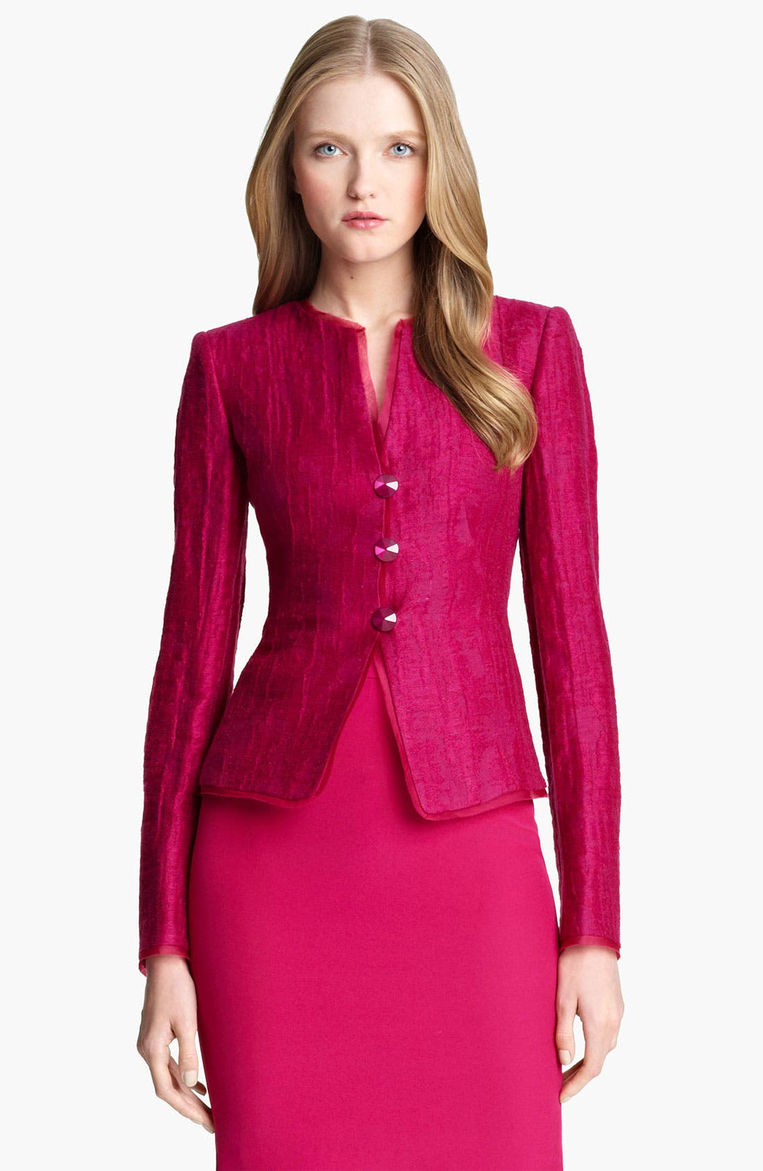 Main Image - Armani Collezioni Jewel Button Jacket