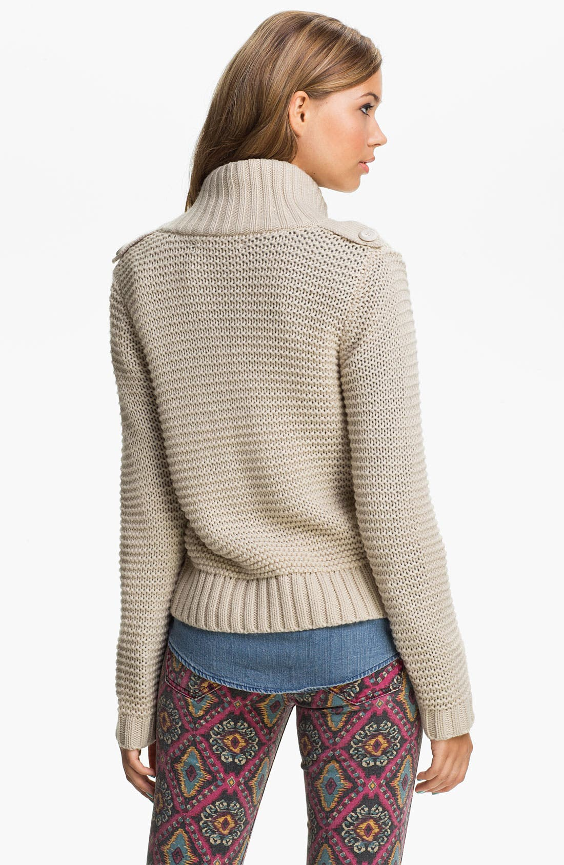Alternate Image 2  - Rubbish® 'Links' Sweater Jacket (Juniors)