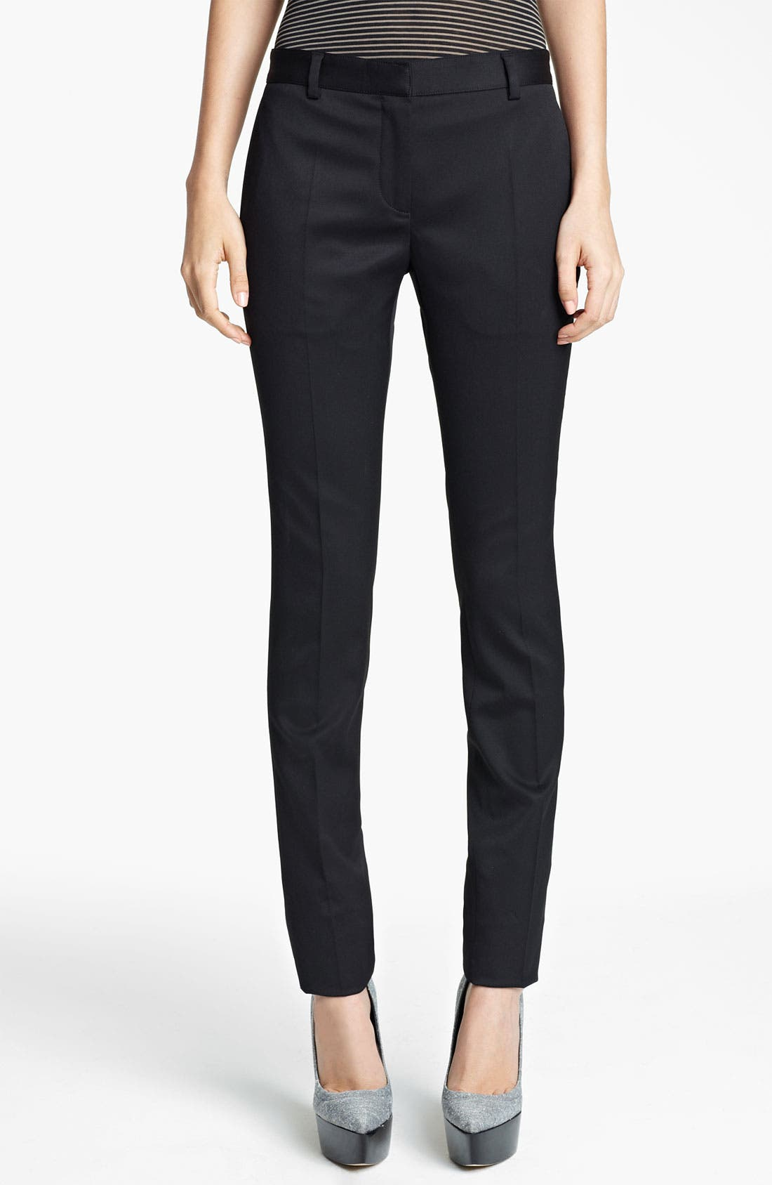 Alternate Image 1 Selected - Burberry Prorsum Skinny Stretch Wool Pants
