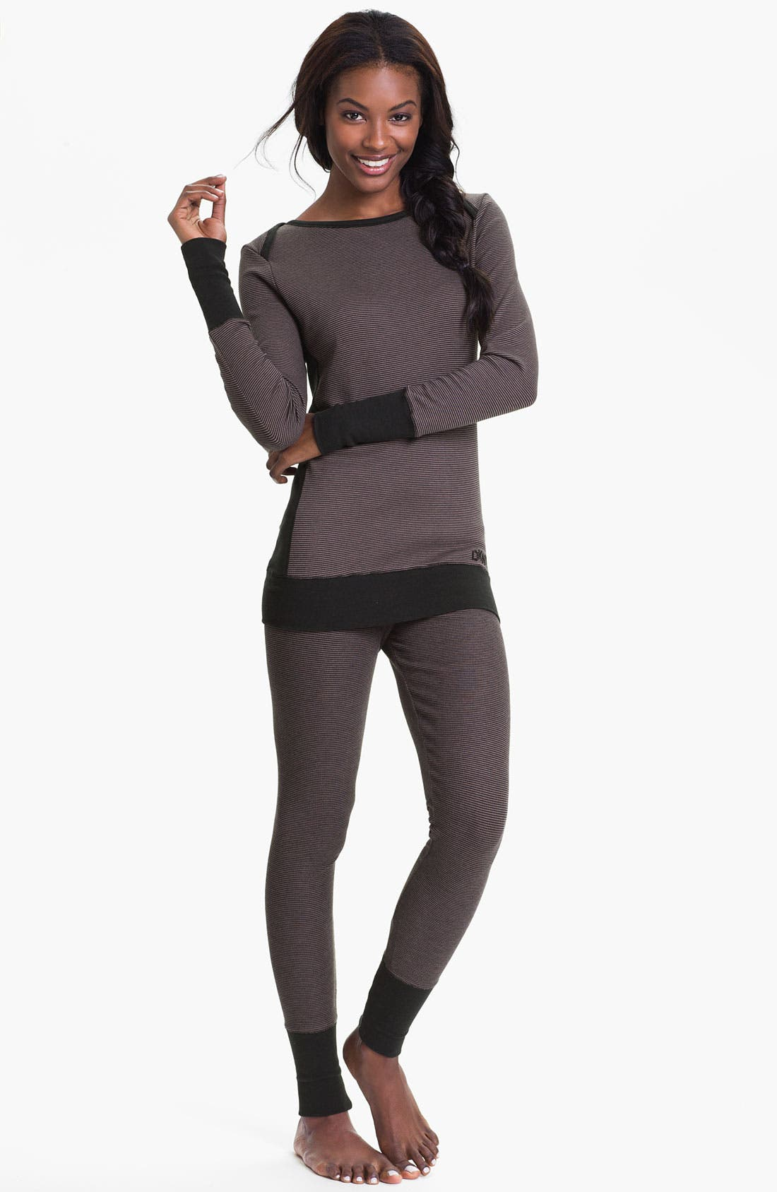 Alternate Image 4  - DKNY Base Layer Cuff Leggings